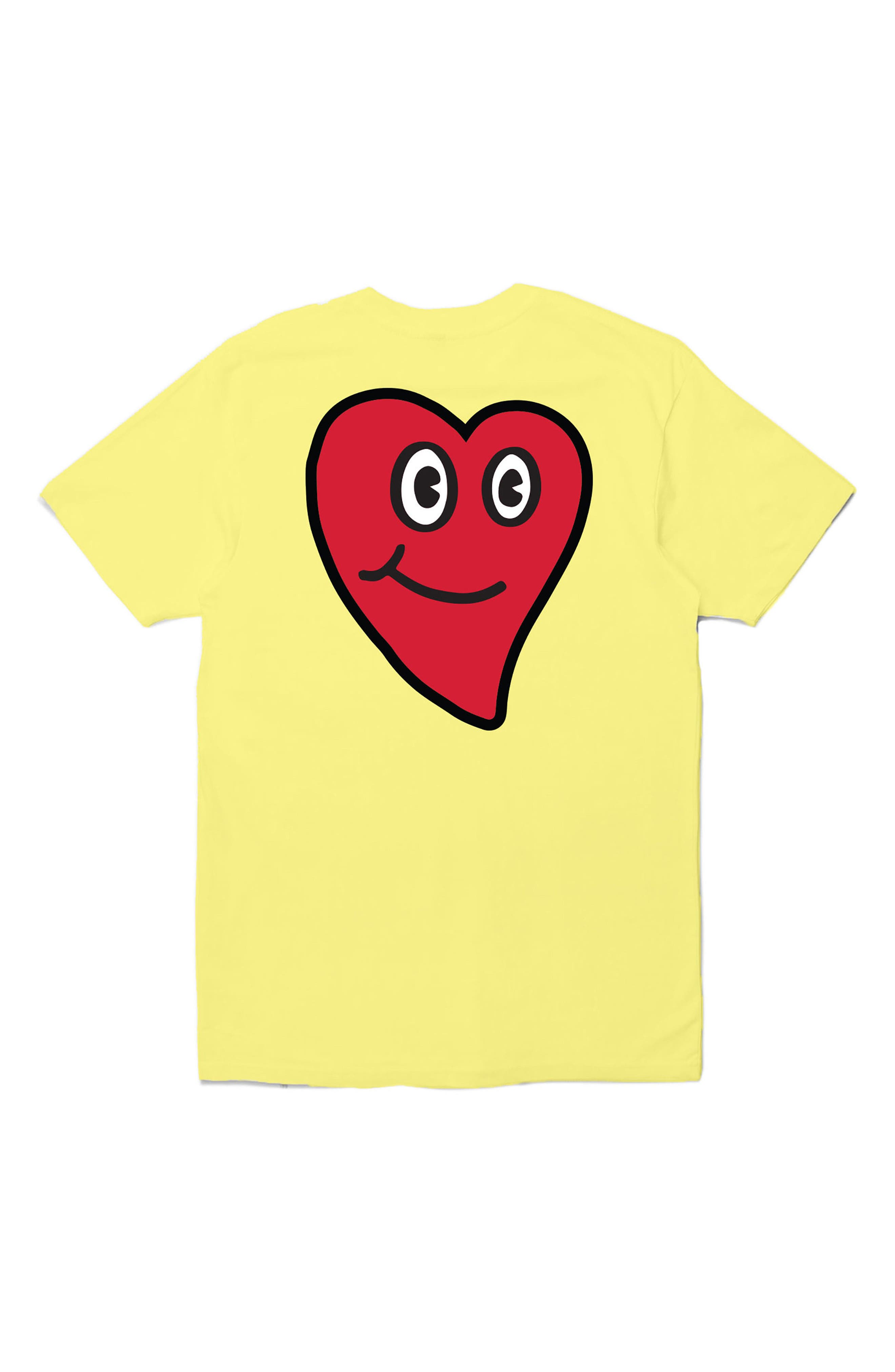 In Love Graphic T-Shirt,                             Alternate thumbnail 2, color,                             Yellow