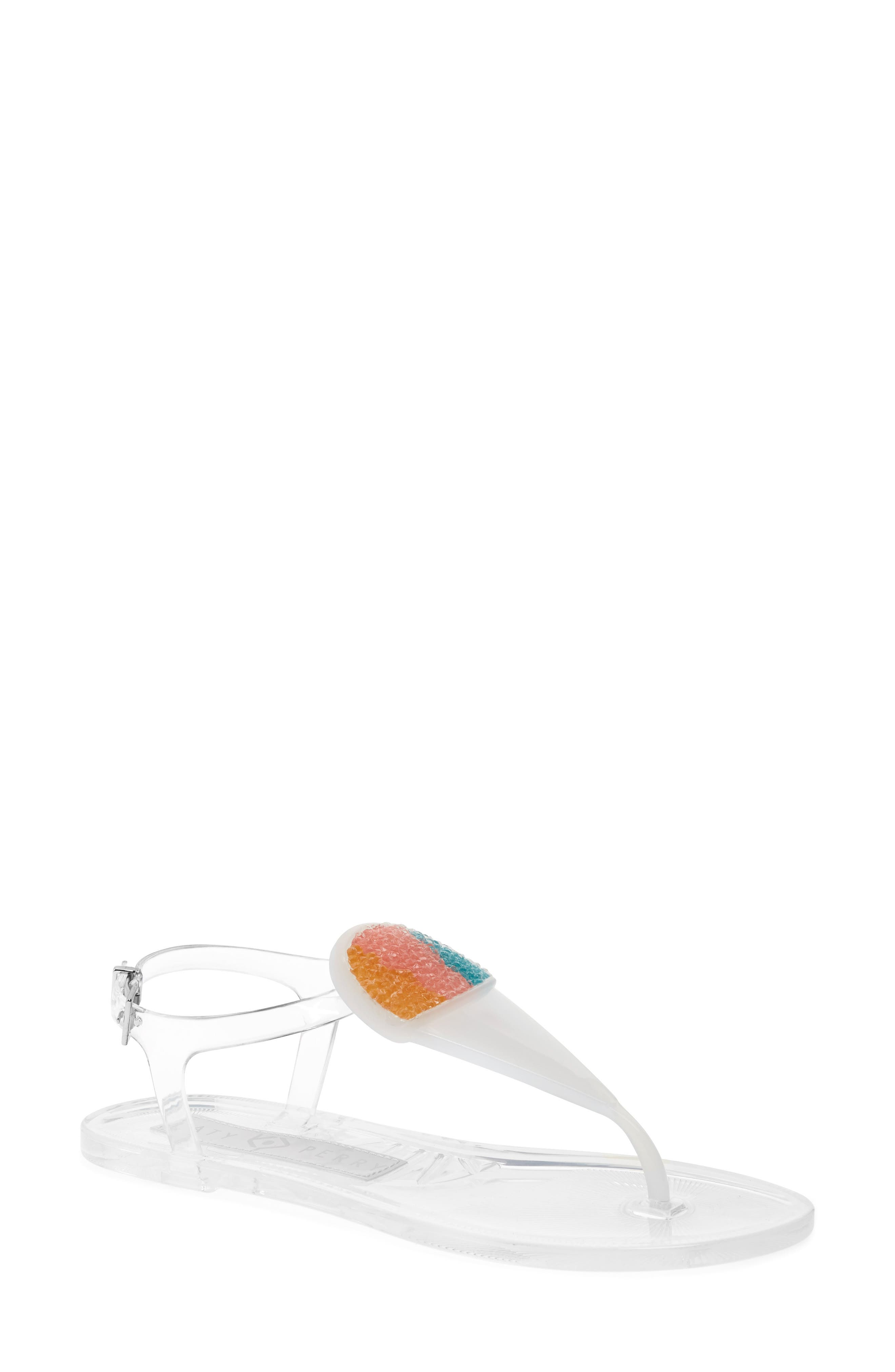 Geli Sandal,                             Main thumbnail 1, color,                             Clear