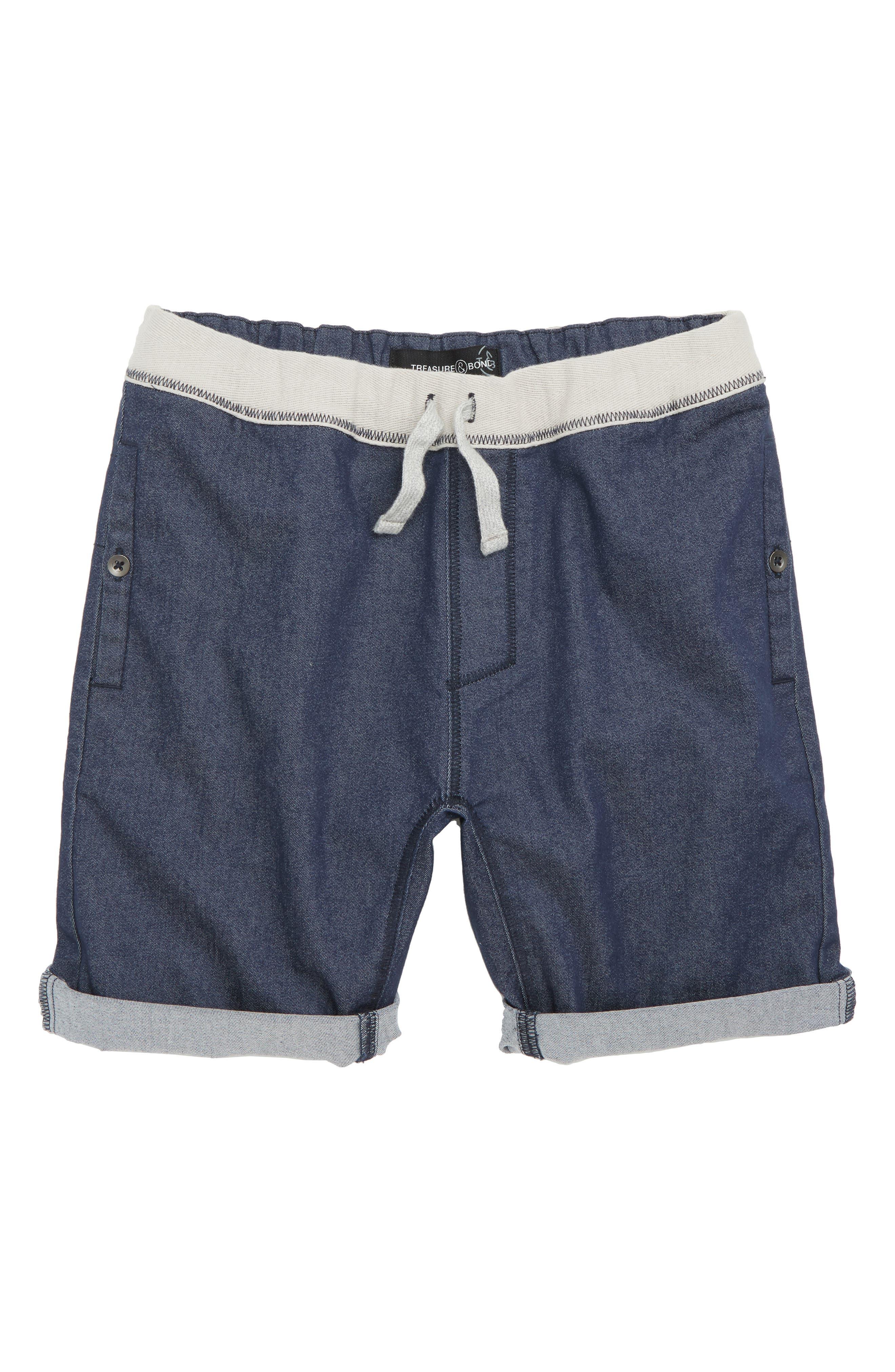 Twill Shorts,                         Main,                         color, Navy Indigo