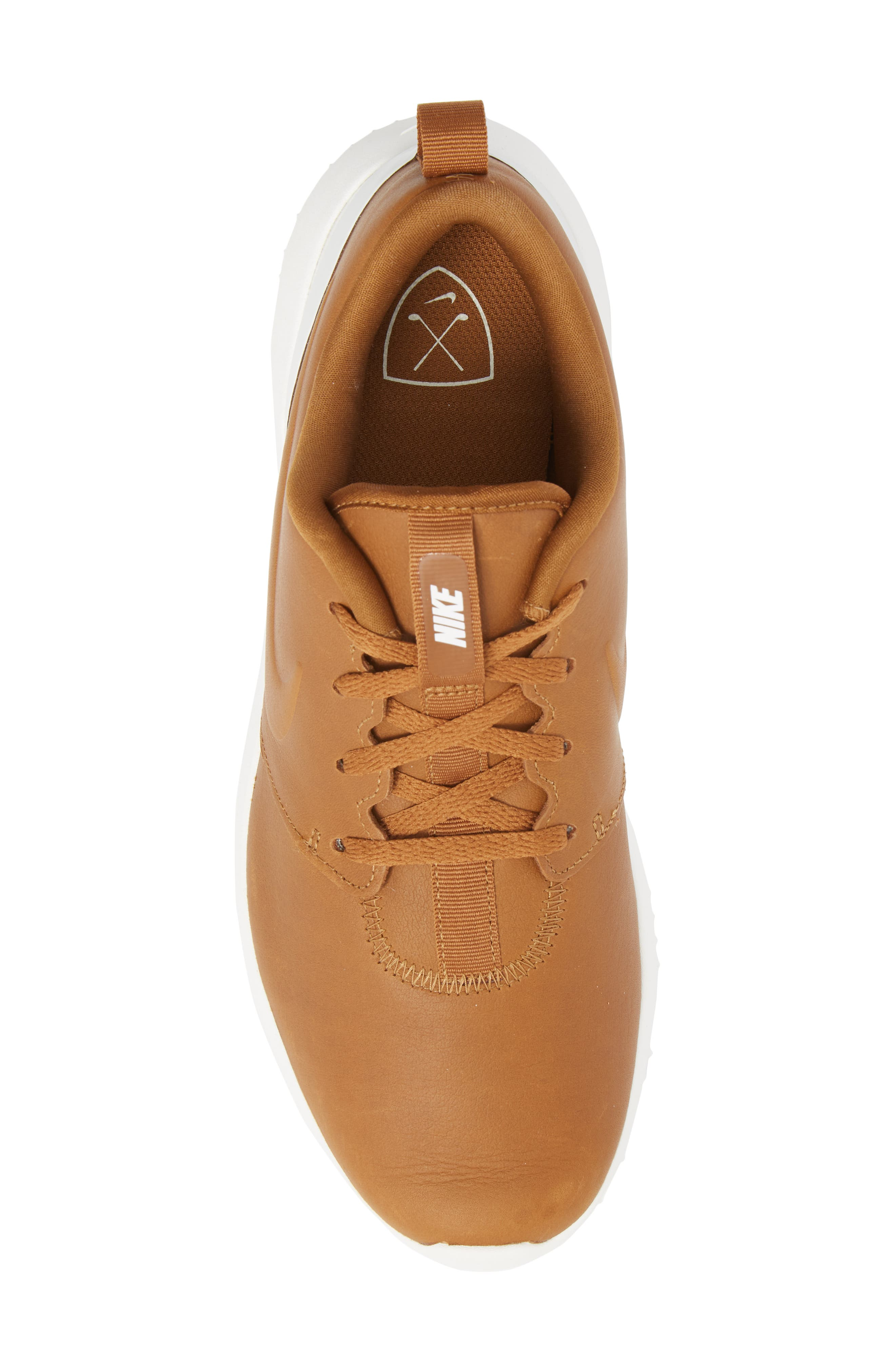 Roshe G Premium Golf Shoe,                             Alternate thumbnail 5, color,                             Ale Brown/ Ale Brown-White