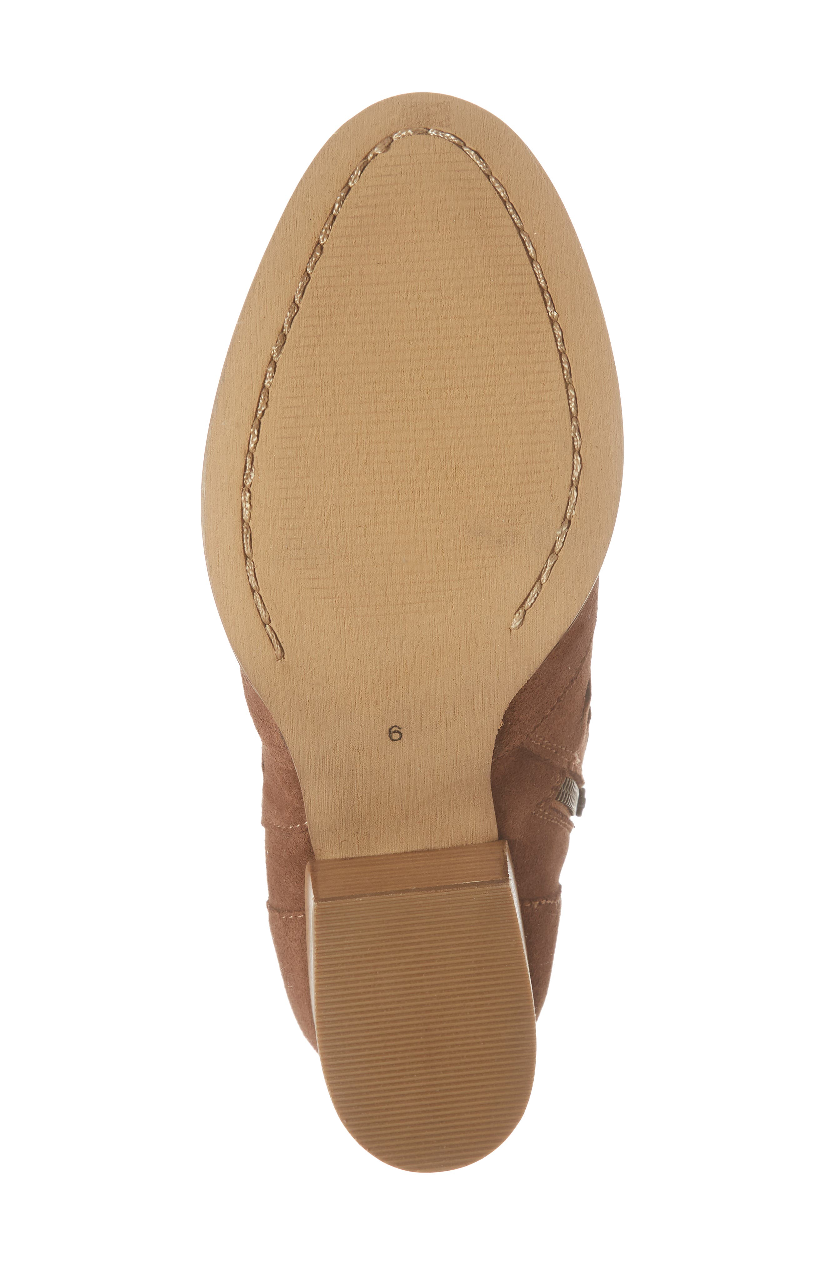 Adriana Western Bootie,                             Alternate thumbnail 6, color,                             Whiskey Suede