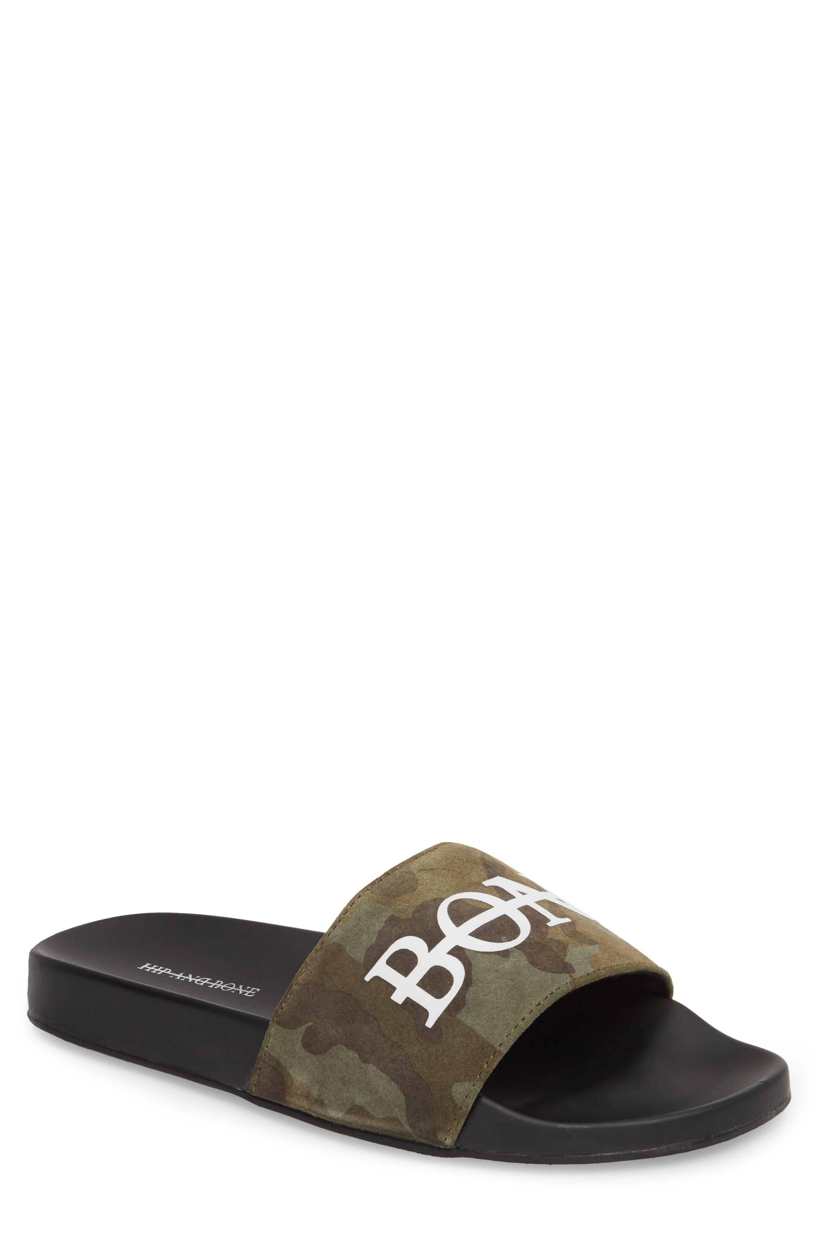 HB Sport Slide,                         Main,                         color, Green Camo Suede