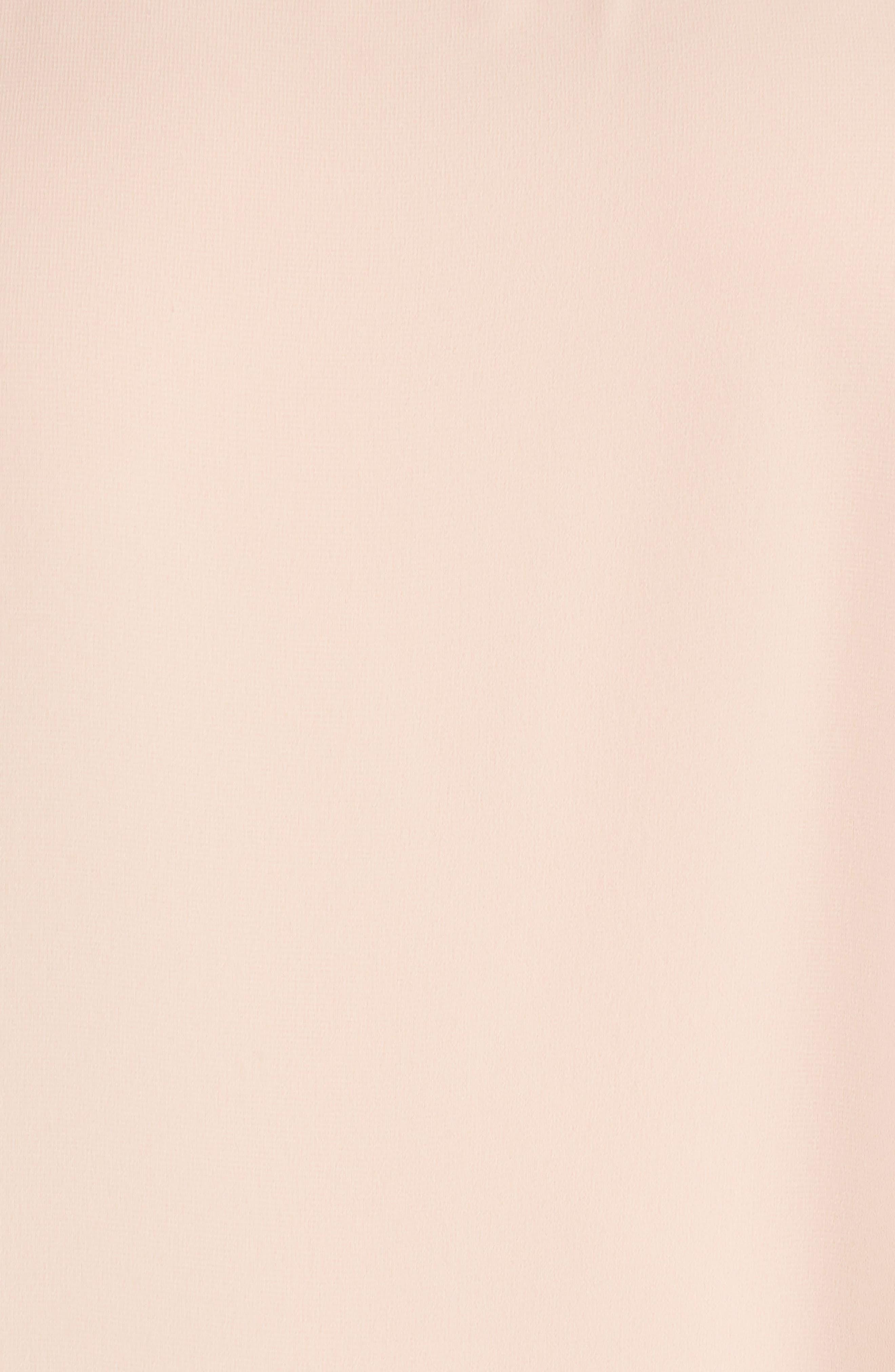 Embellished Neck Cold Shoulder Overlay Chiffon Shift Dress,                             Alternate thumbnail 5, color,                             Blush