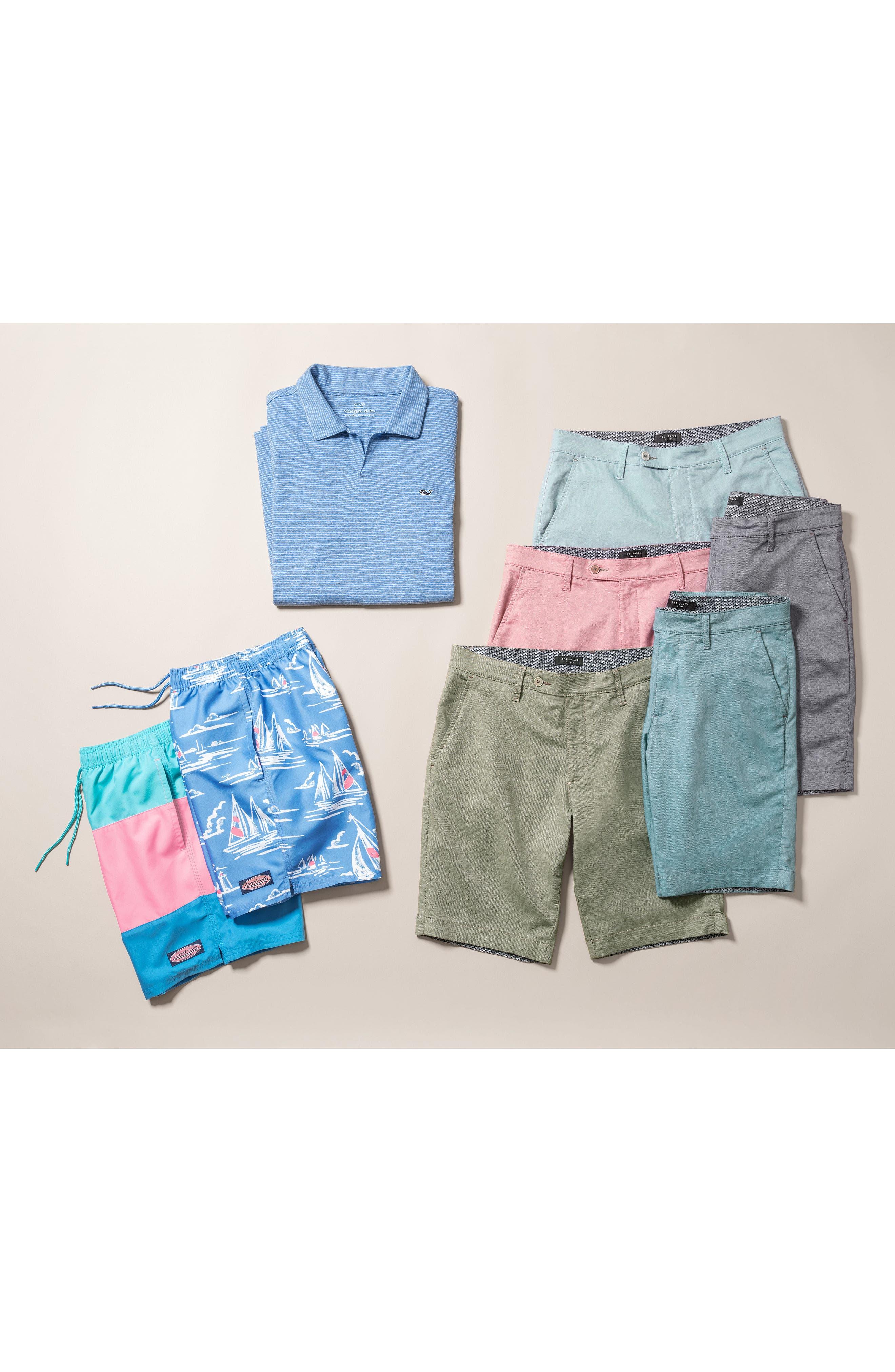 Stripe Linen & Cotton Polo,                             Alternate thumbnail 7, color,