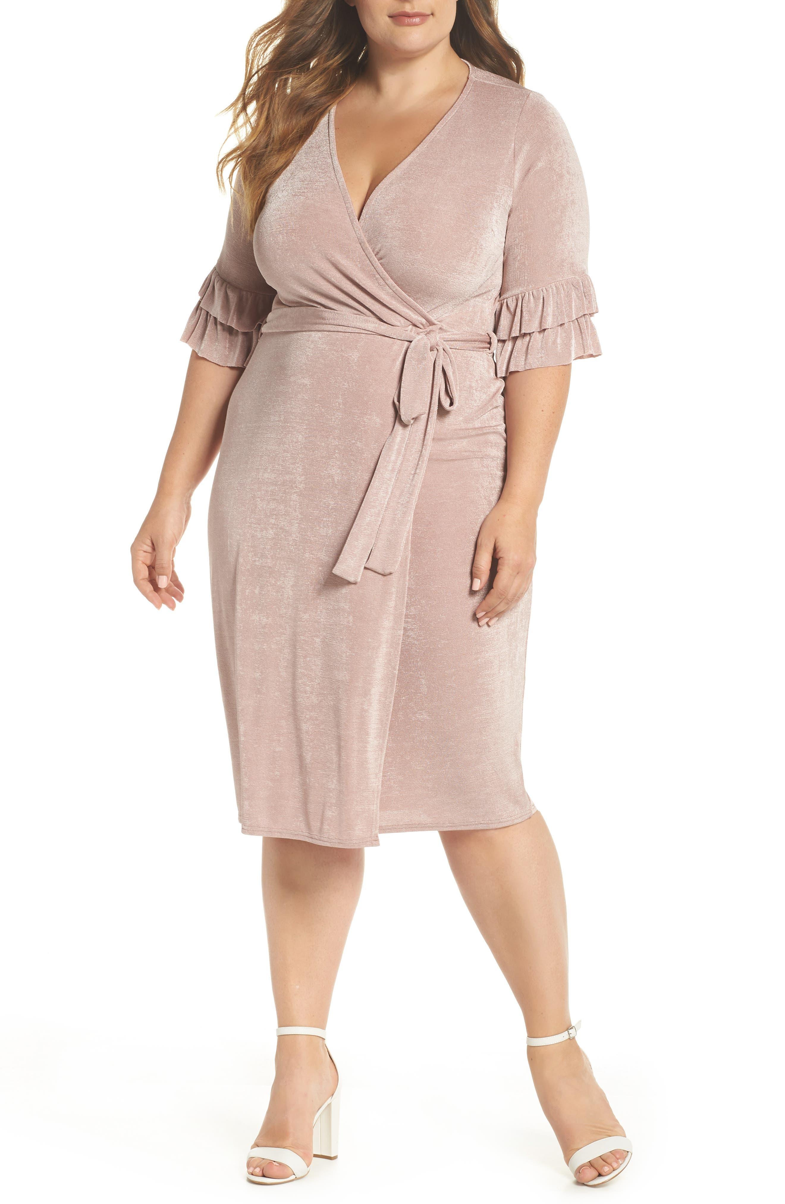 Wrap Dress,                         Main,                         color, Blush