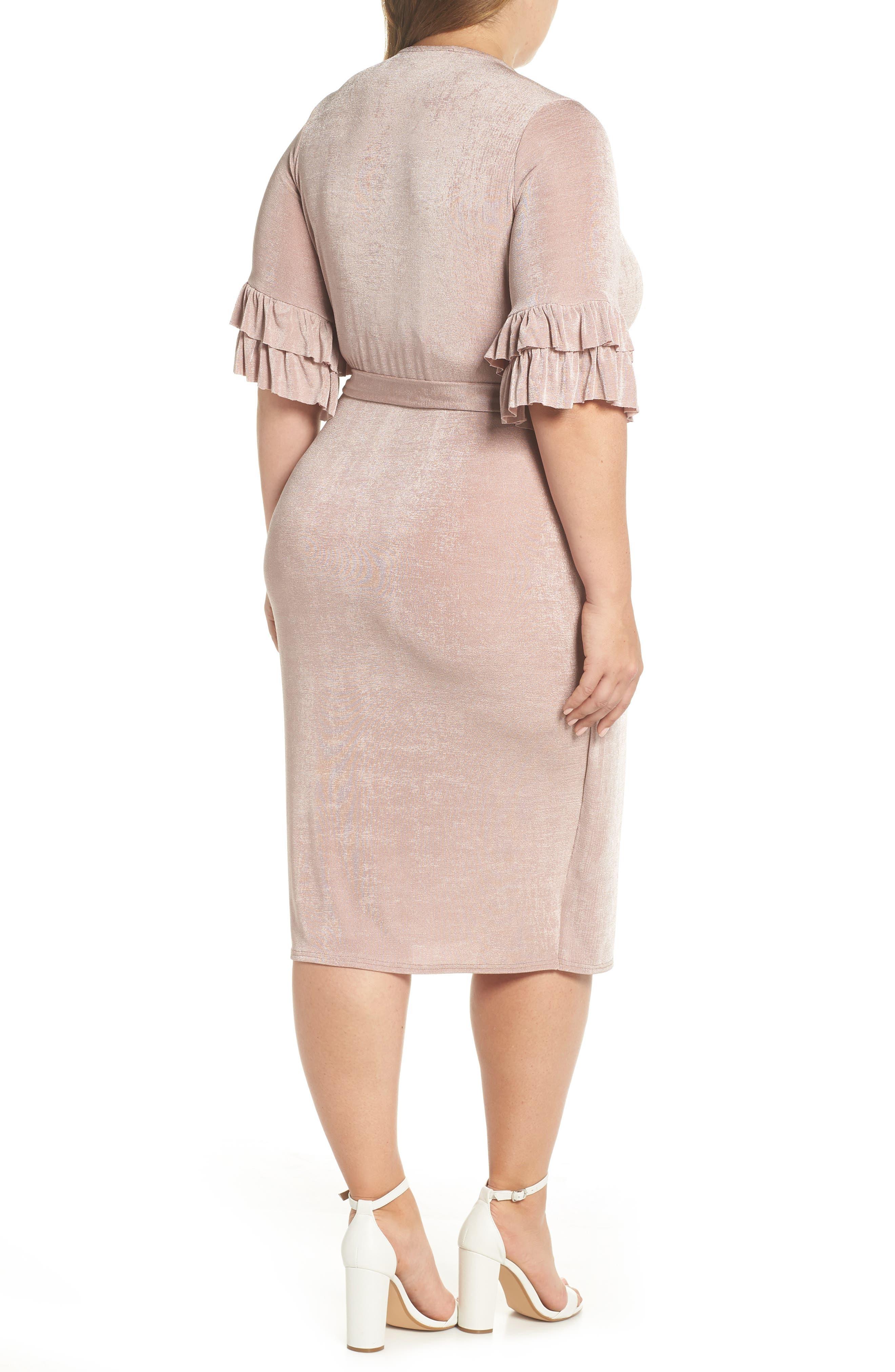 Wrap Dress,                             Alternate thumbnail 2, color,                             Blush