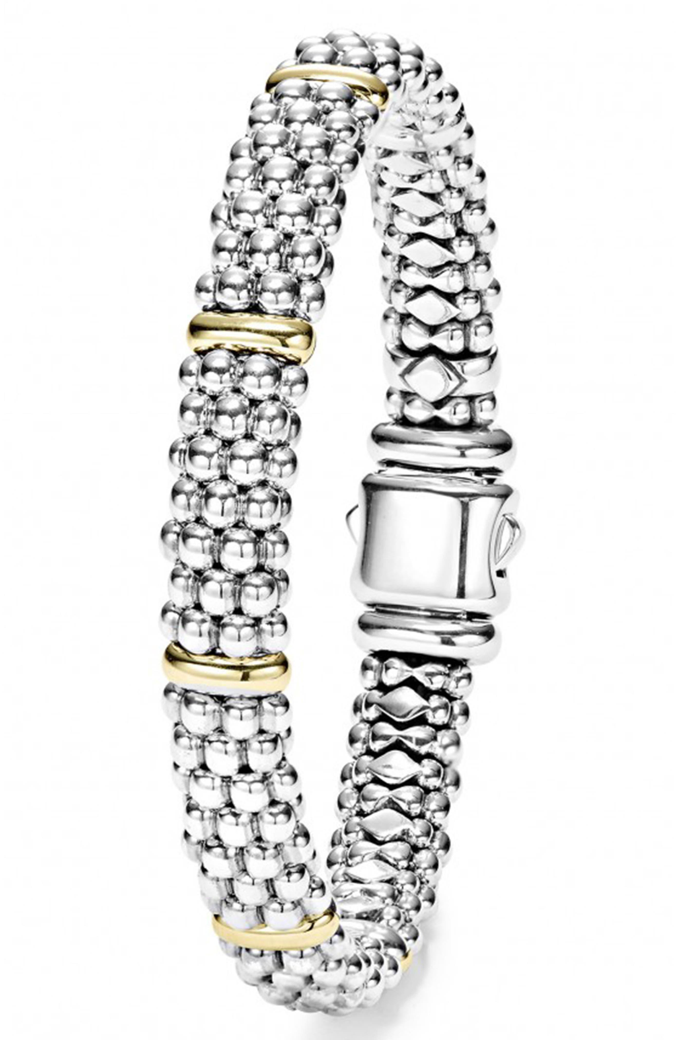 Caviar Rope Bracelet,                             Alternate thumbnail 2, color,                             Silver/ Gold