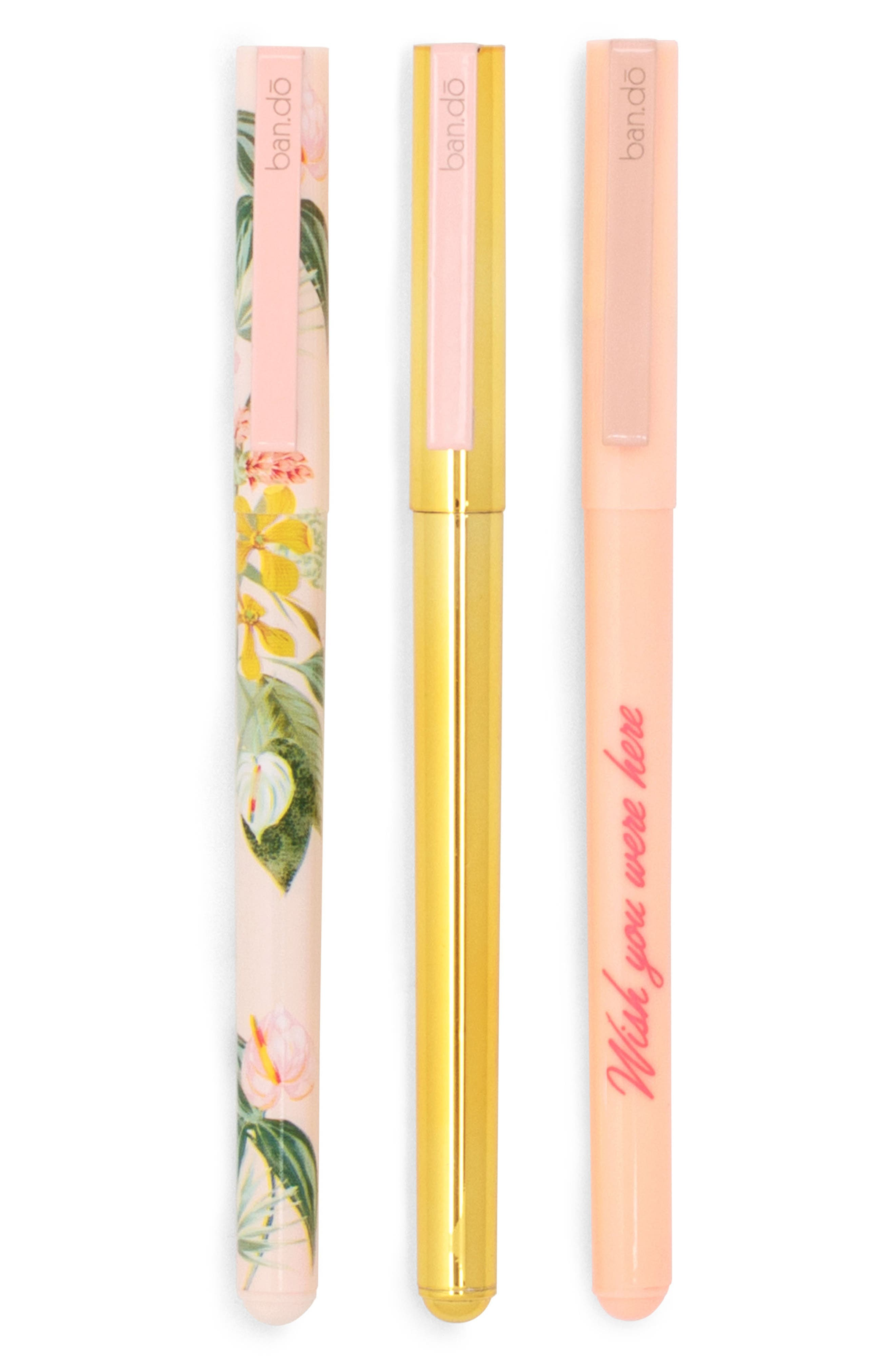 Write On 3-Pack Pen Set,                         Main,                         color, Cream