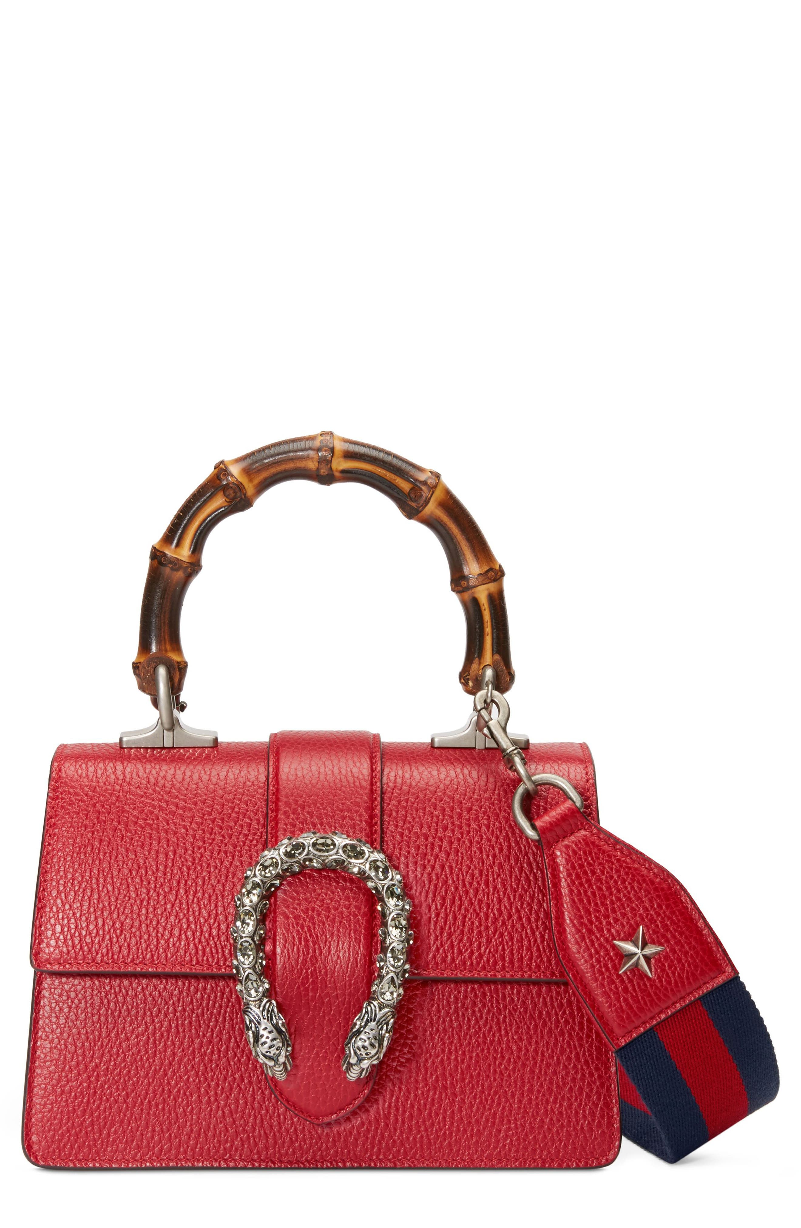 Mini Dionysus Leather Top Handle Satchel,                             Main thumbnail 1, color,                             Red/ Blue/ Black Diamond