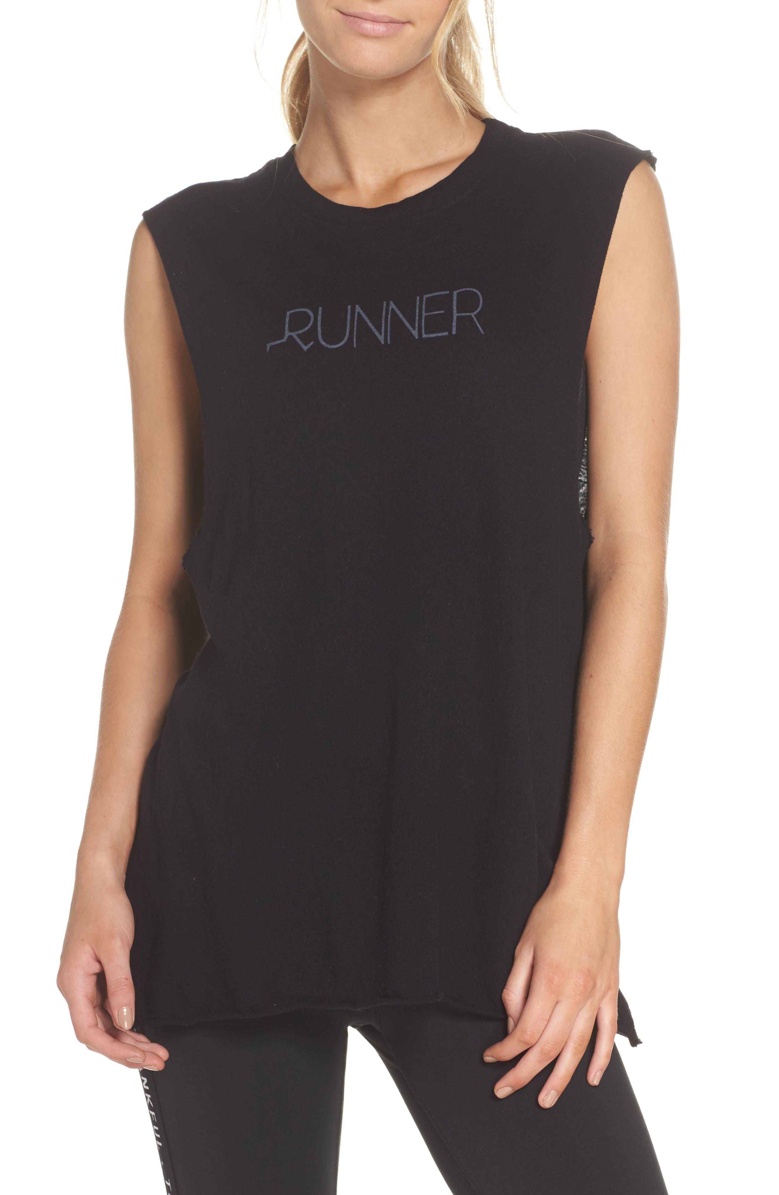 Aquilera Runner Tank,                             Main thumbnail 1, color,                             Black Sand