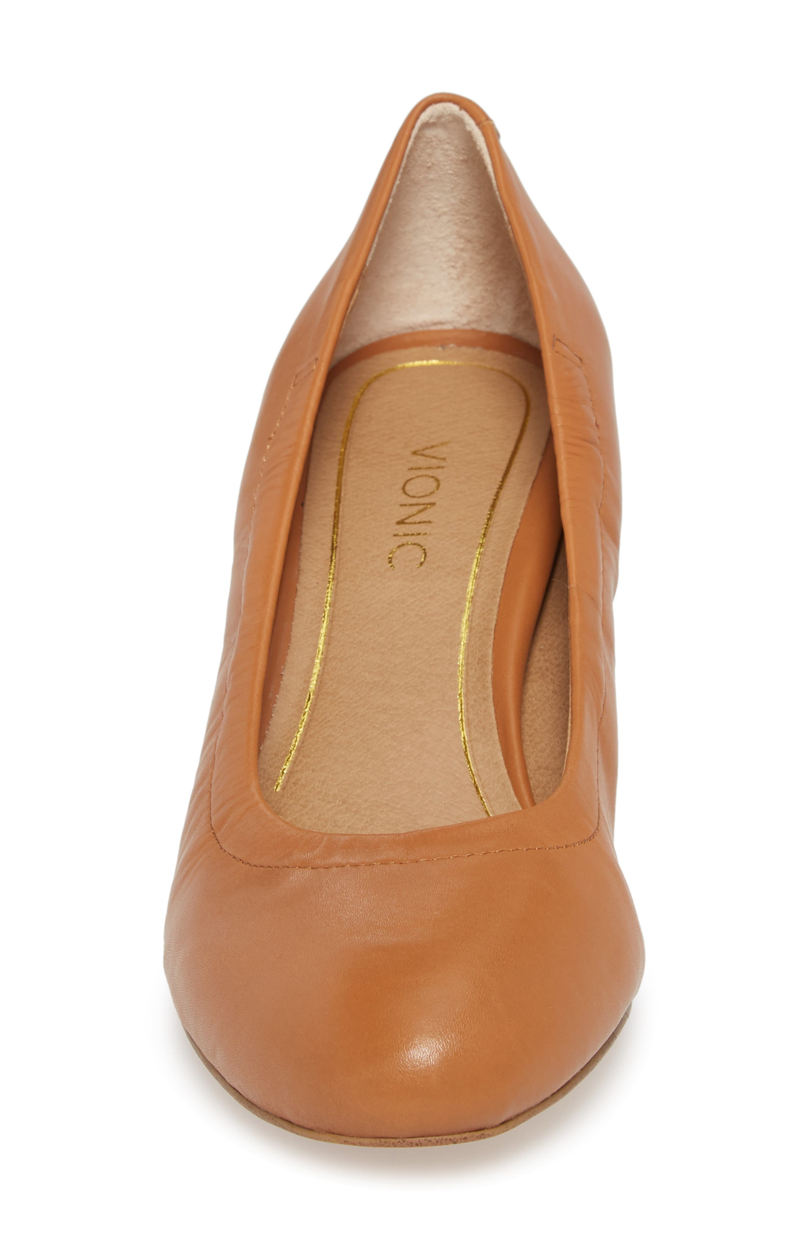 Camden Wedge,                             Alternate thumbnail 4, color,                             Tan Leather