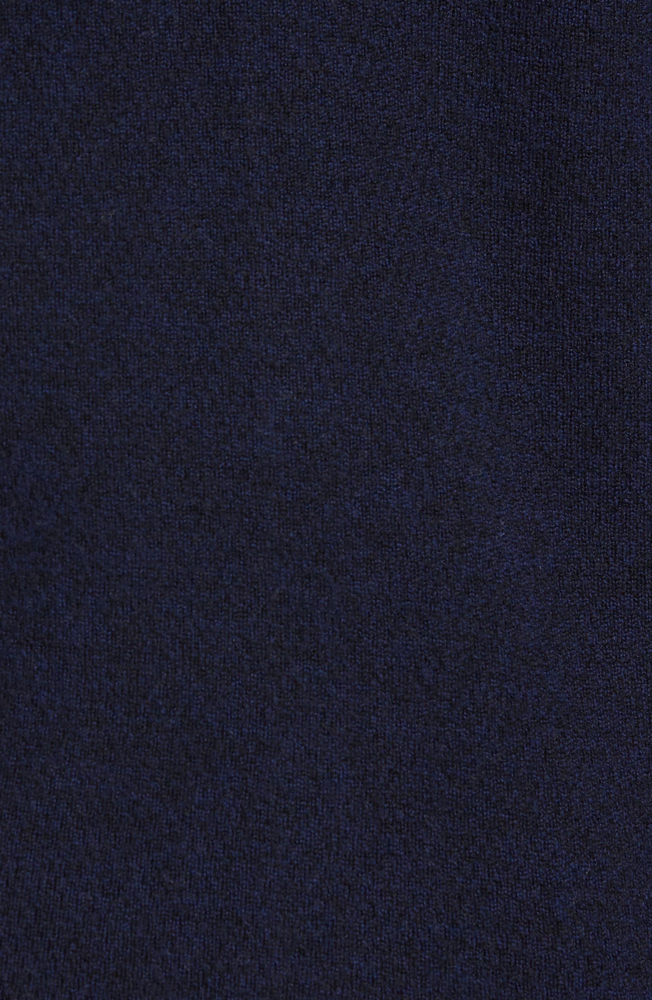 Gregory Wool Blend Cardigan,                             Alternate thumbnail 5, color,                             Navy Melange