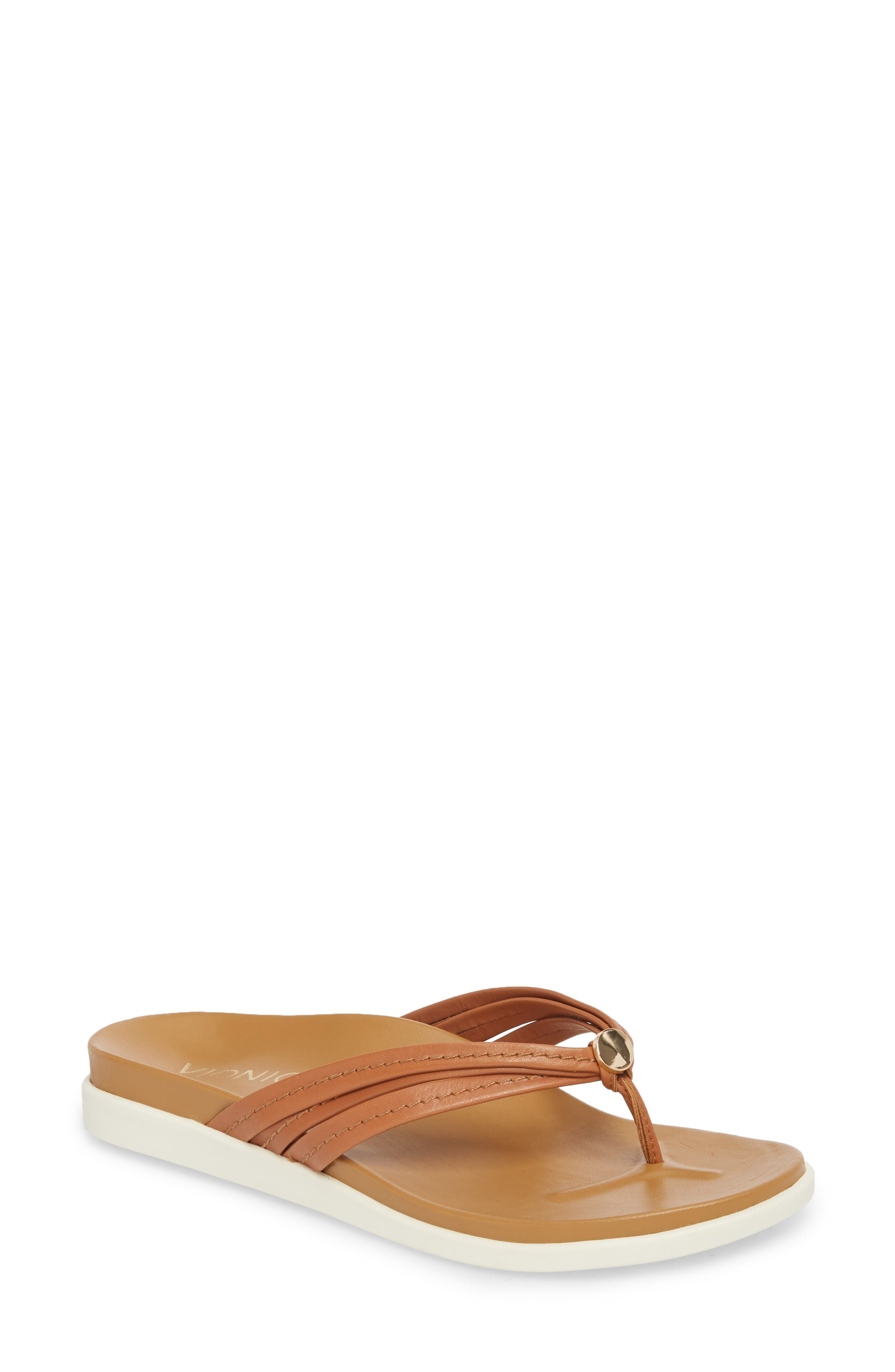 Catalina Flip Flop,                         Main,                         color, Tan Leather