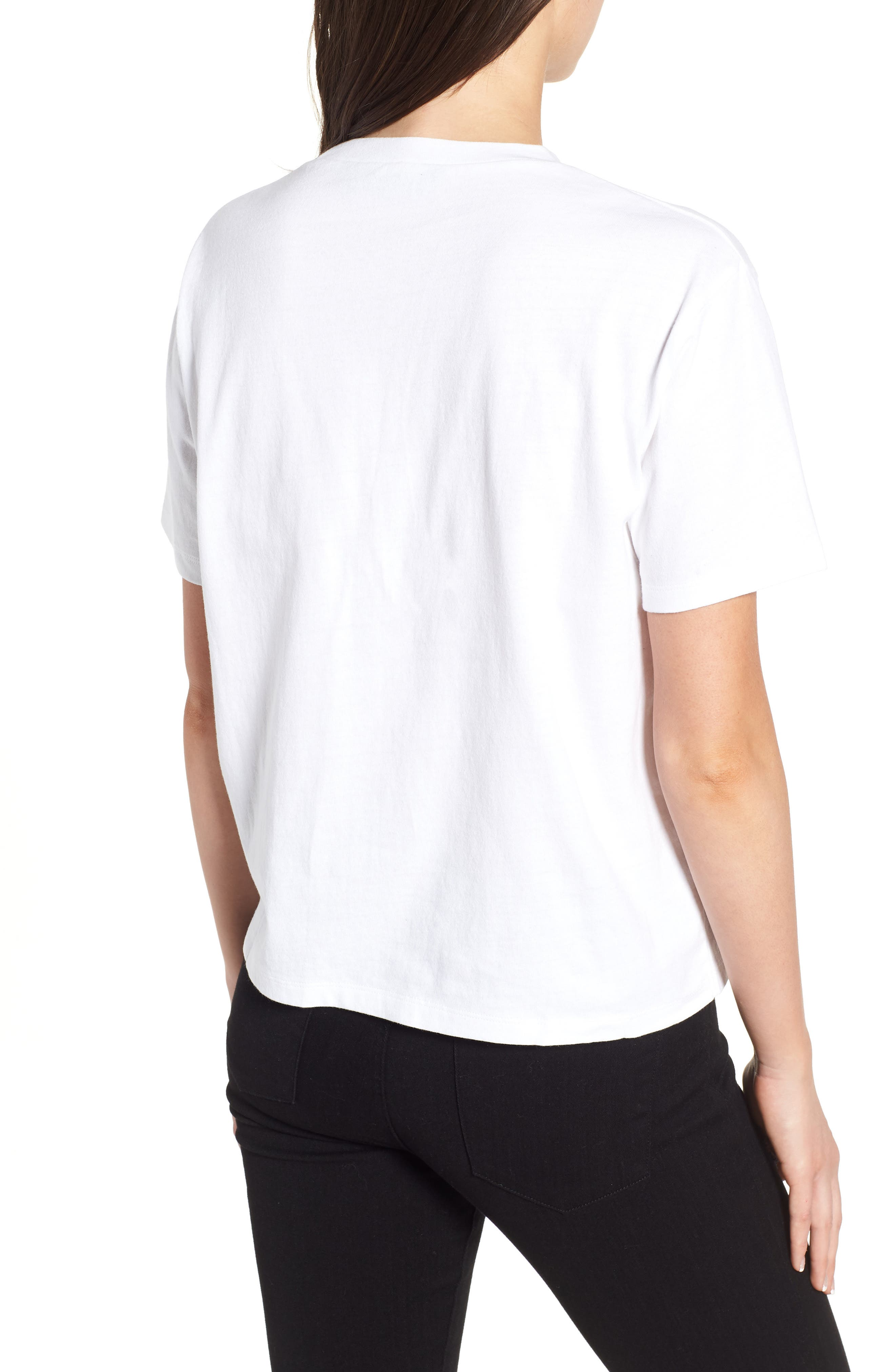 Help Me Embellished Graphic Tee,                             Alternate thumbnail 2, color,                             White
