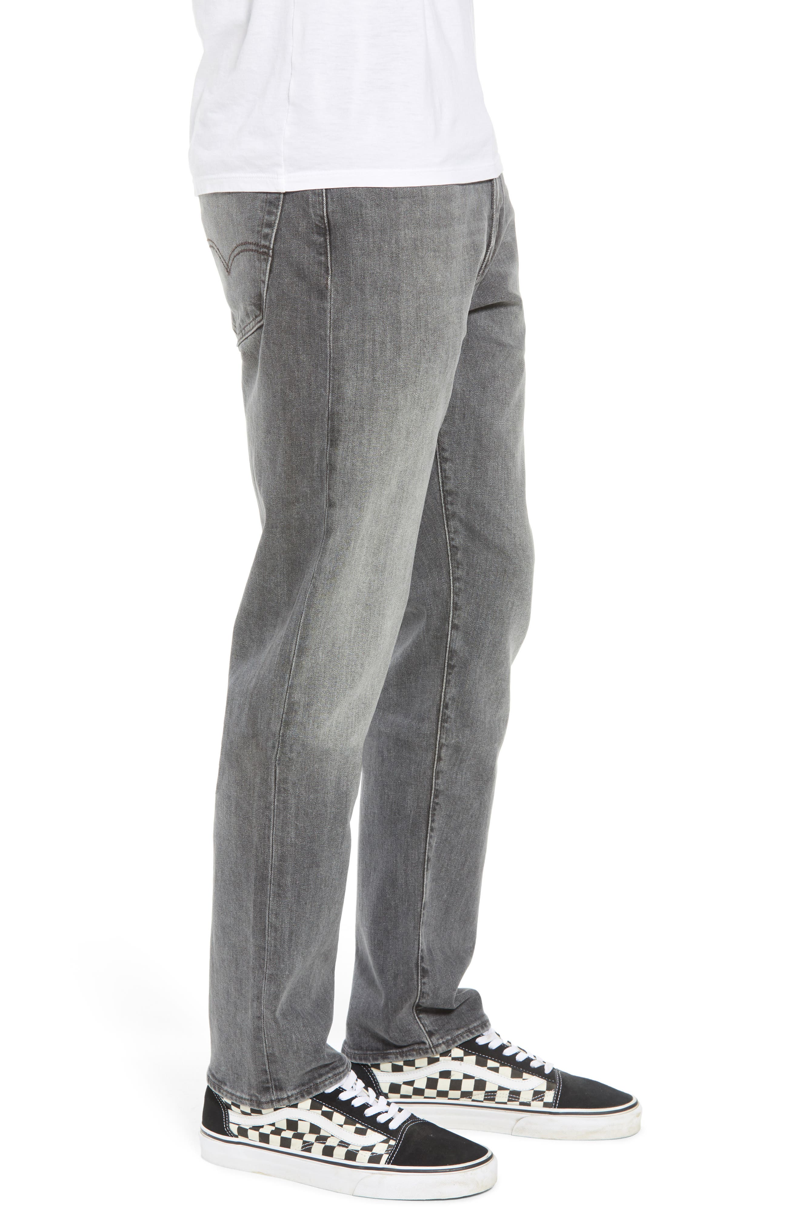 502<sup>™</sup> Slouchy Slim Fit Jeans,                             Alternate thumbnail 4, color,                             Grey Wash