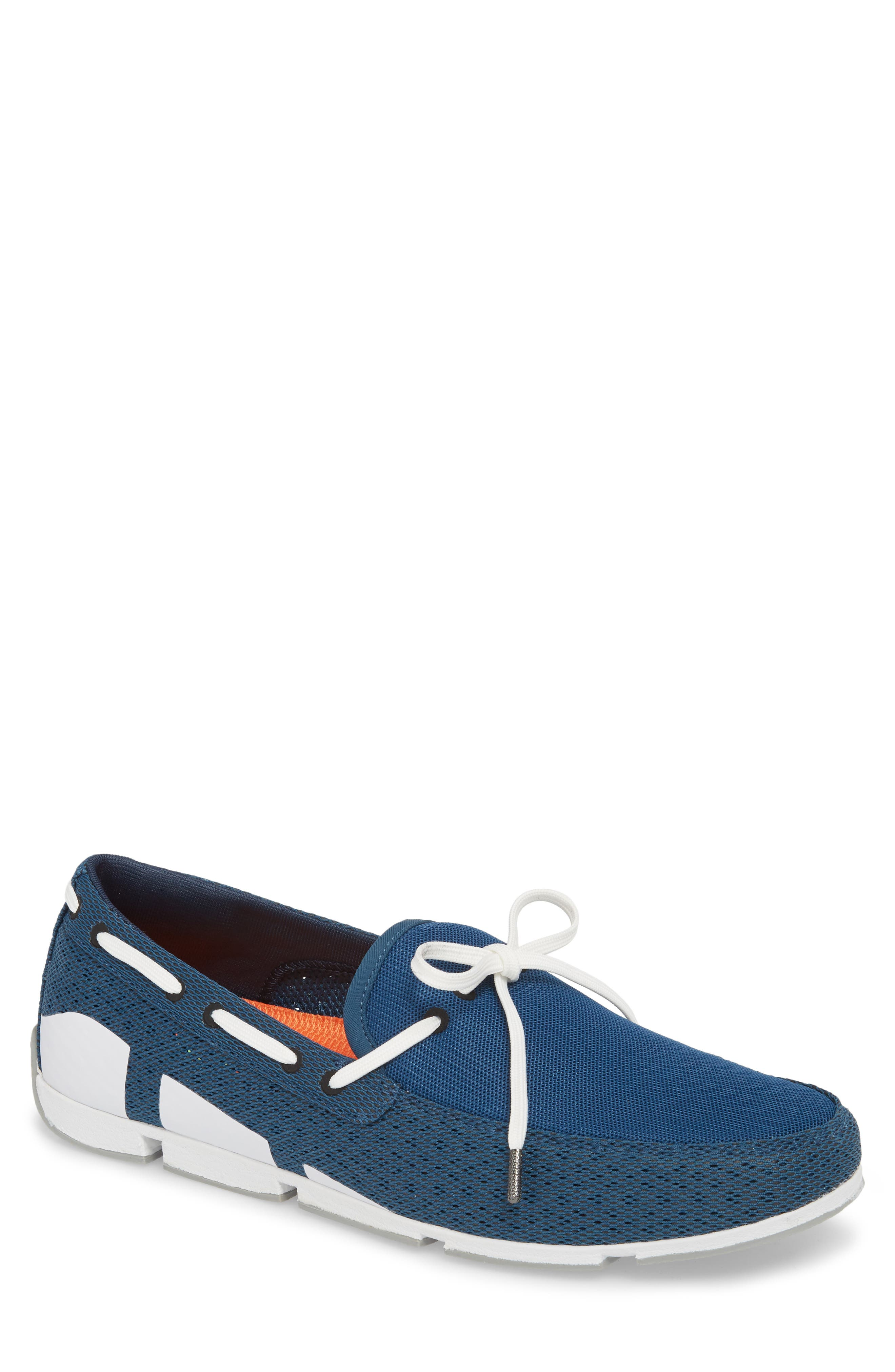 Breeze Loafer,                             Main thumbnail 1, color,                             Blue/ White