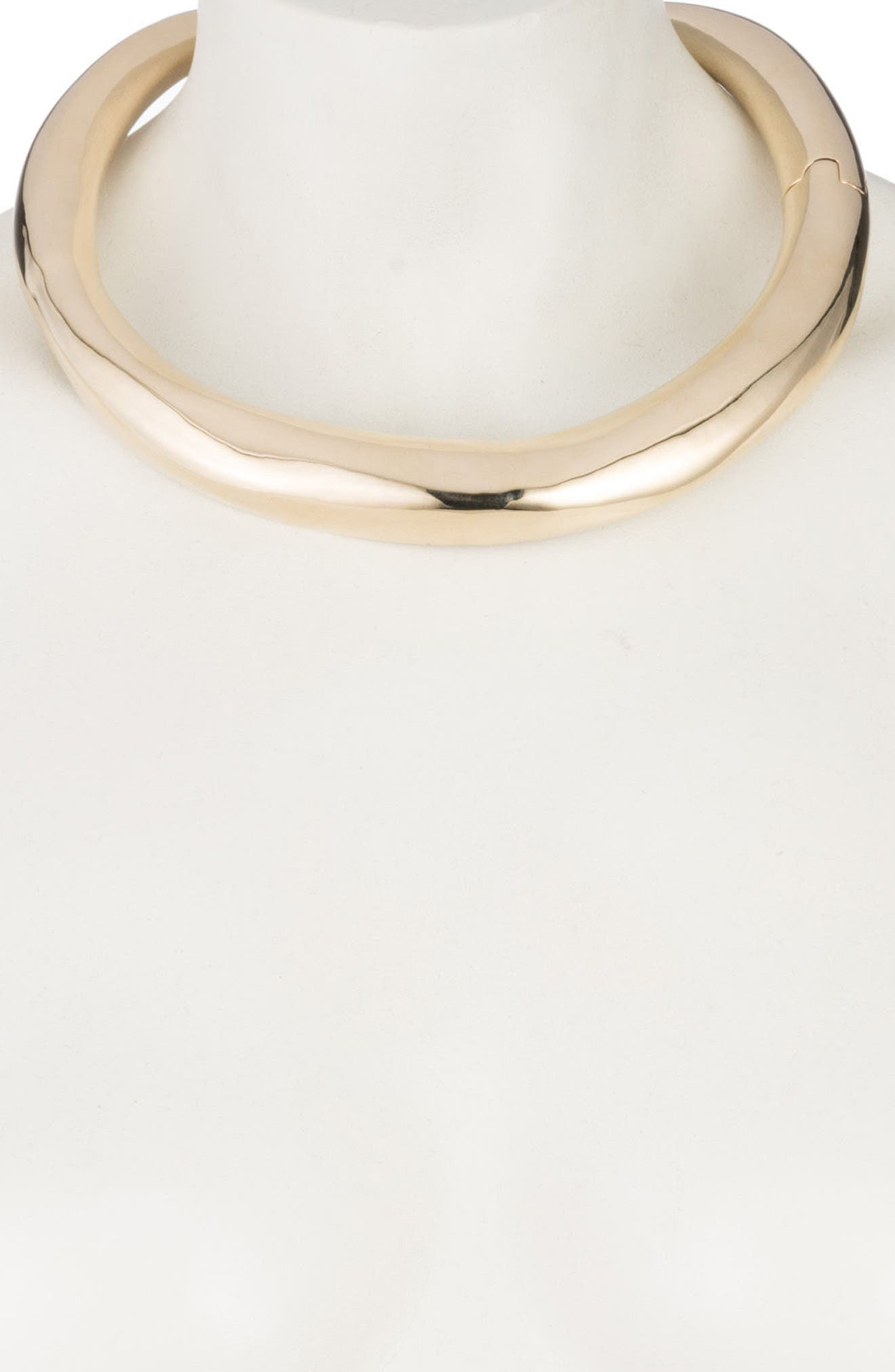 Watery Collar Necklace,                             Alternate thumbnail 2, color,                             Gold/ Silver