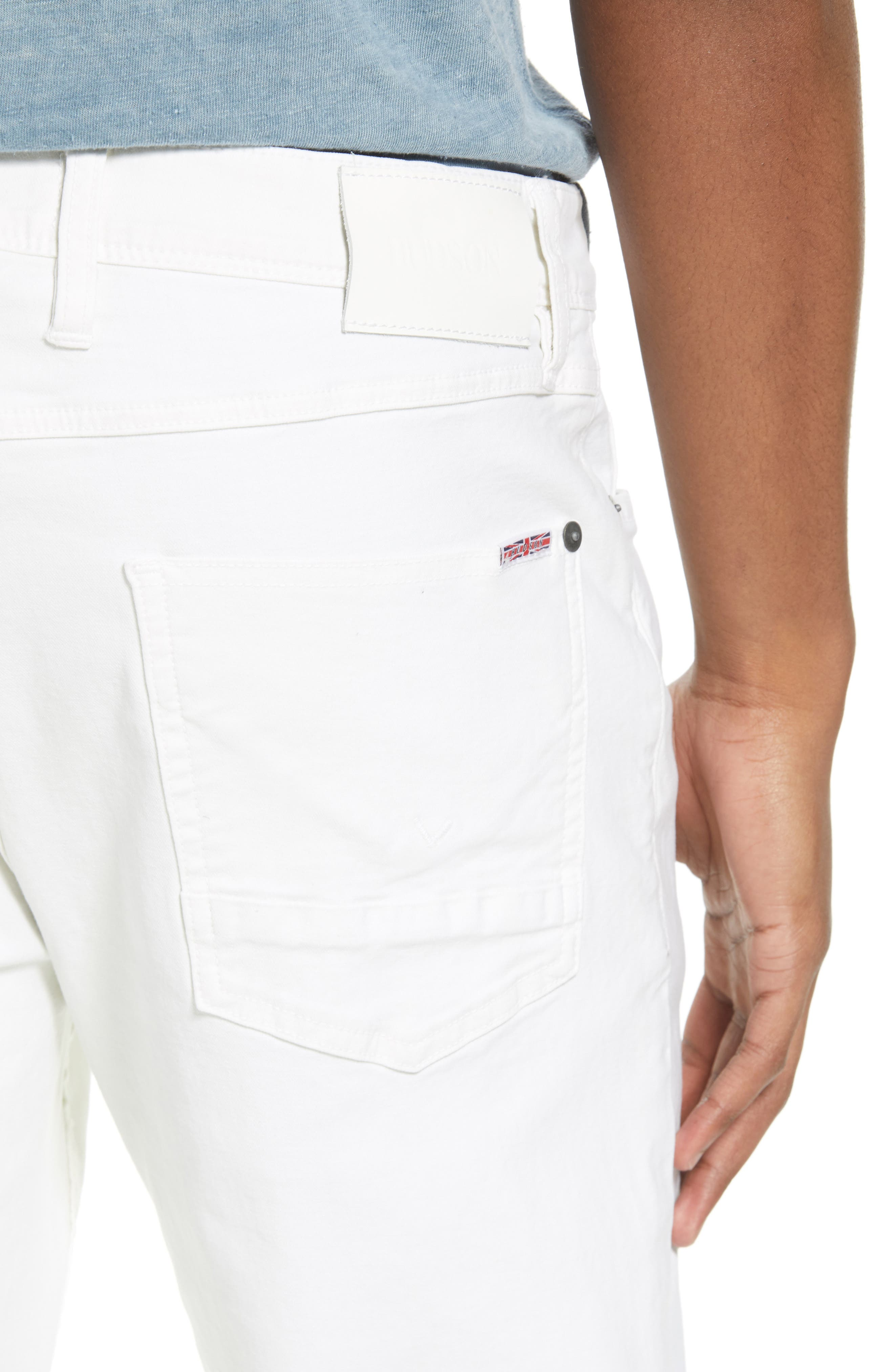 Sartor Slouchy Skinny Fit Jeans,                             Alternate thumbnail 4, color,                             Off White