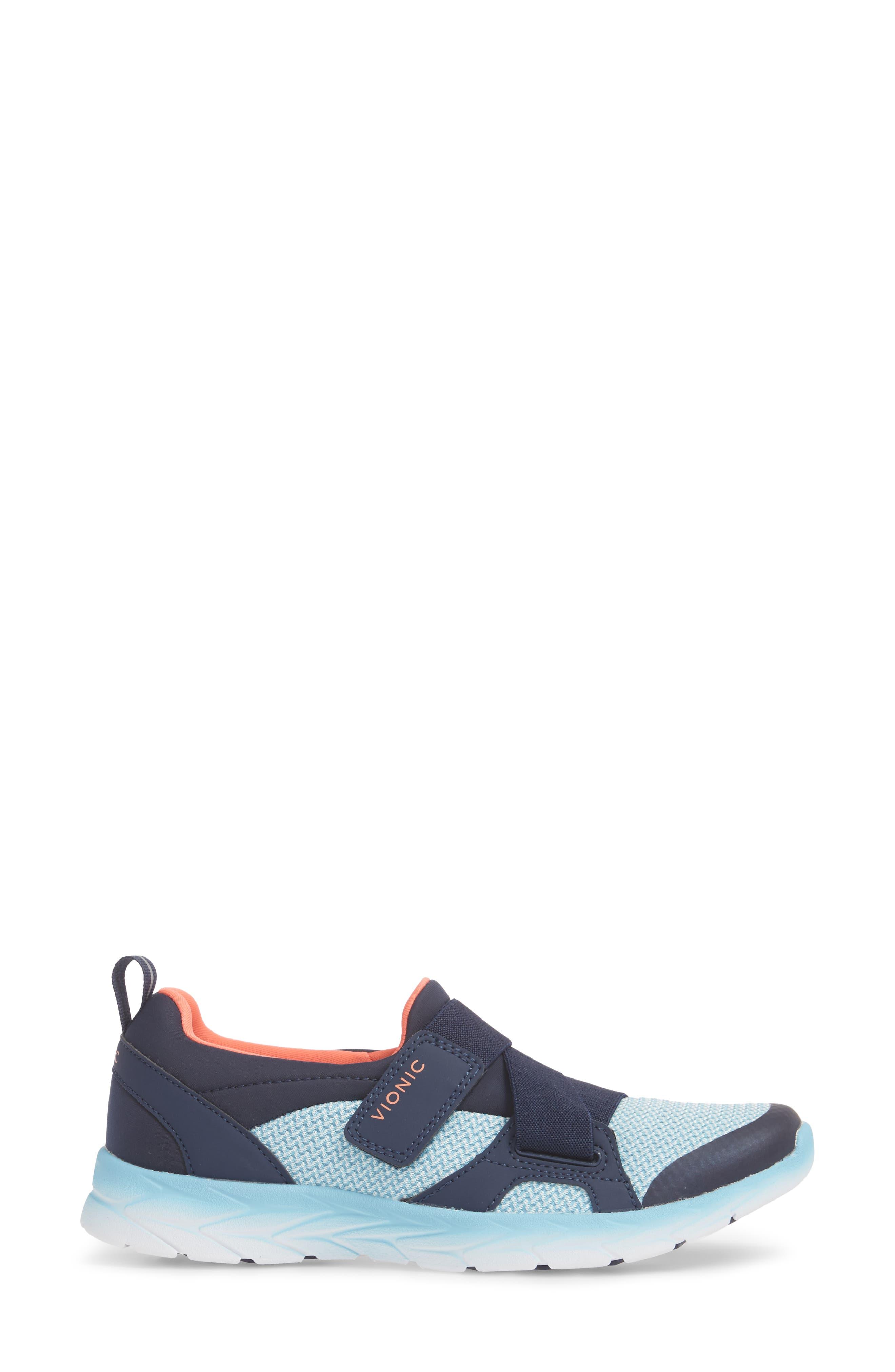 Dash Sneaker,                             Alternate thumbnail 3, color,                             Navy/ Light Blue Fabric