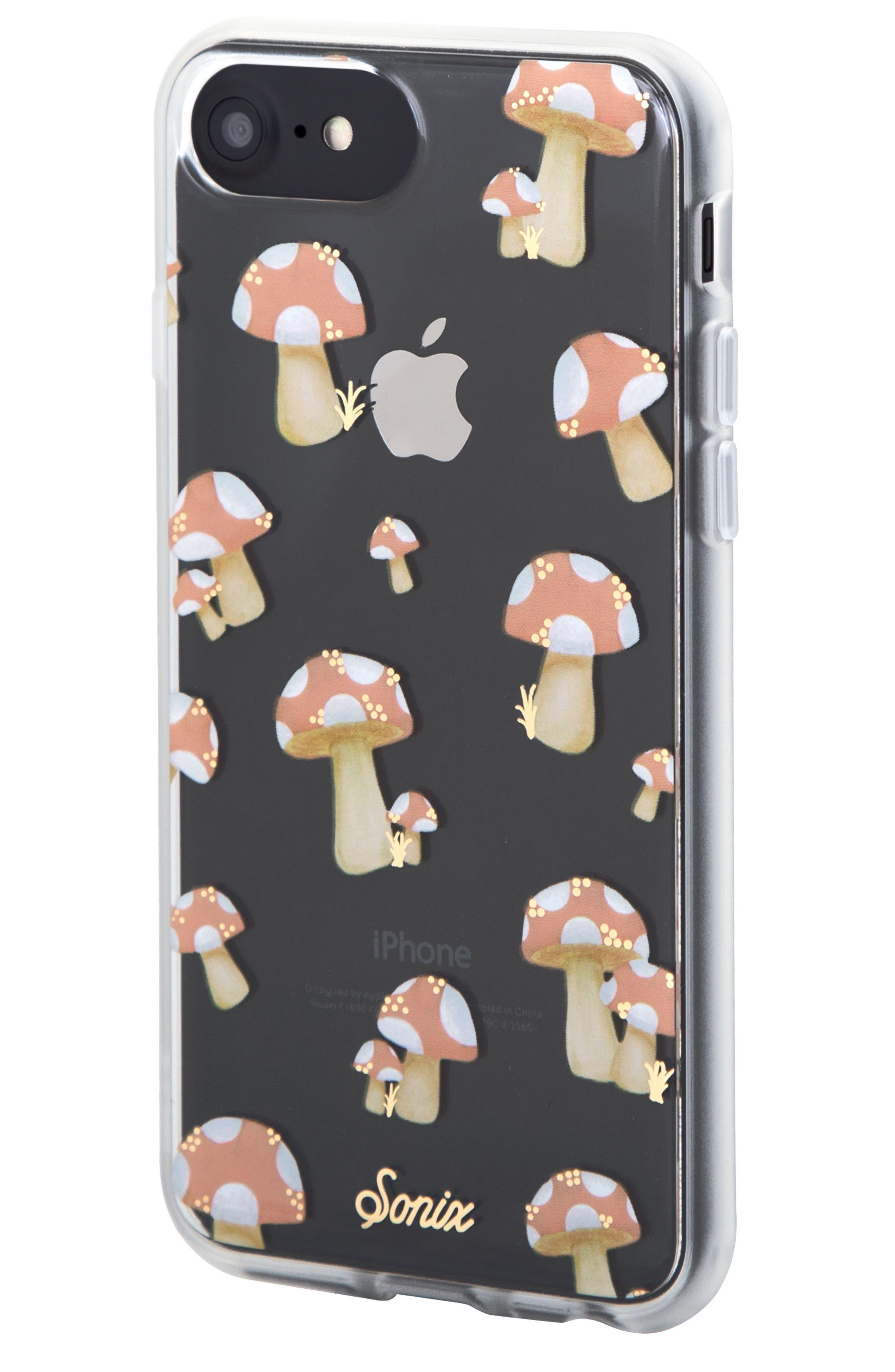 Mushroom iPhone 6/6s/7/8 & 6/6s/7/8 Plus Case,                             Alternate thumbnail 2, color,                             Peach/ Tan