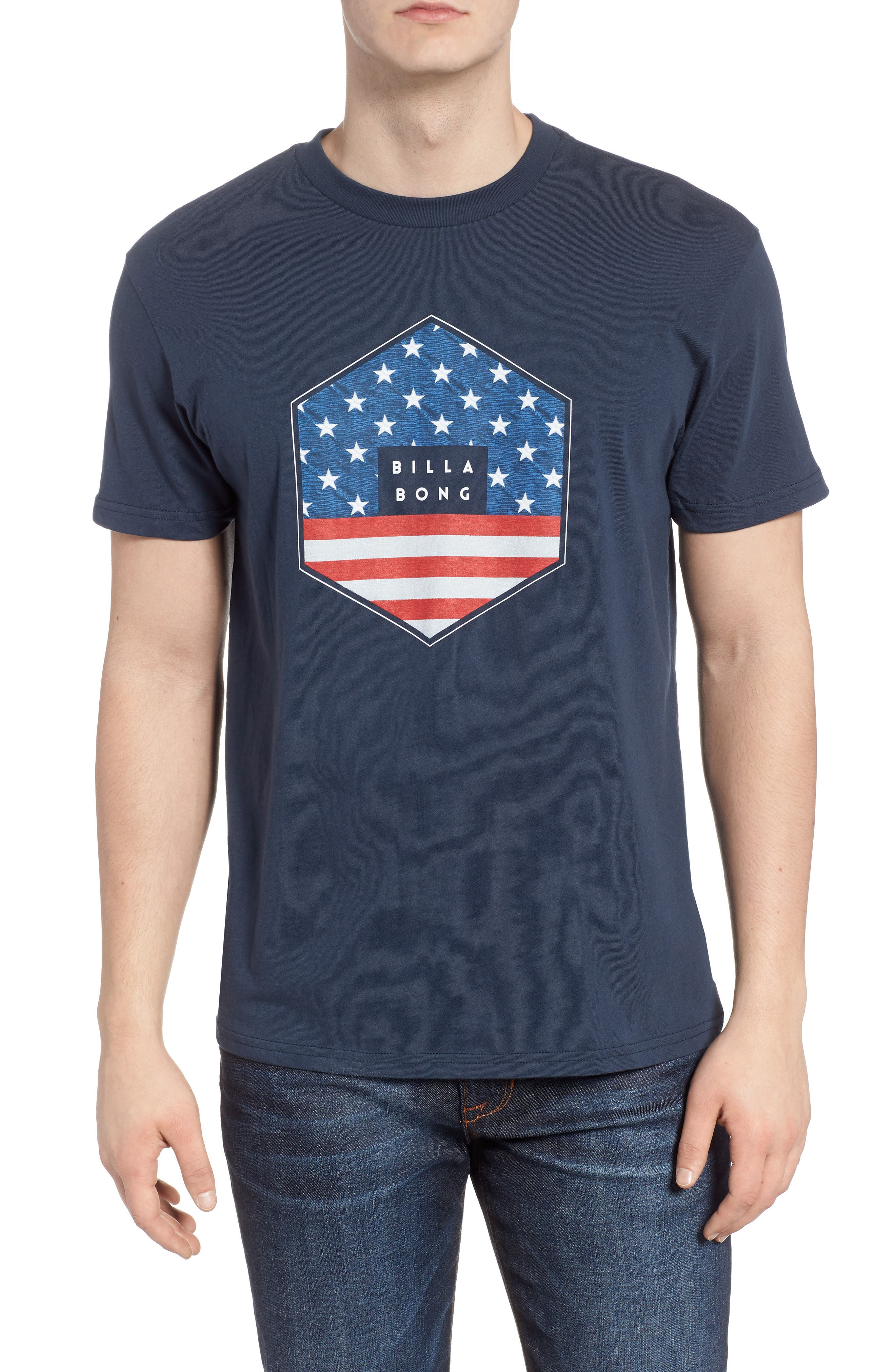 Access Graphic T-Shirt,                         Main,                         color, Navy