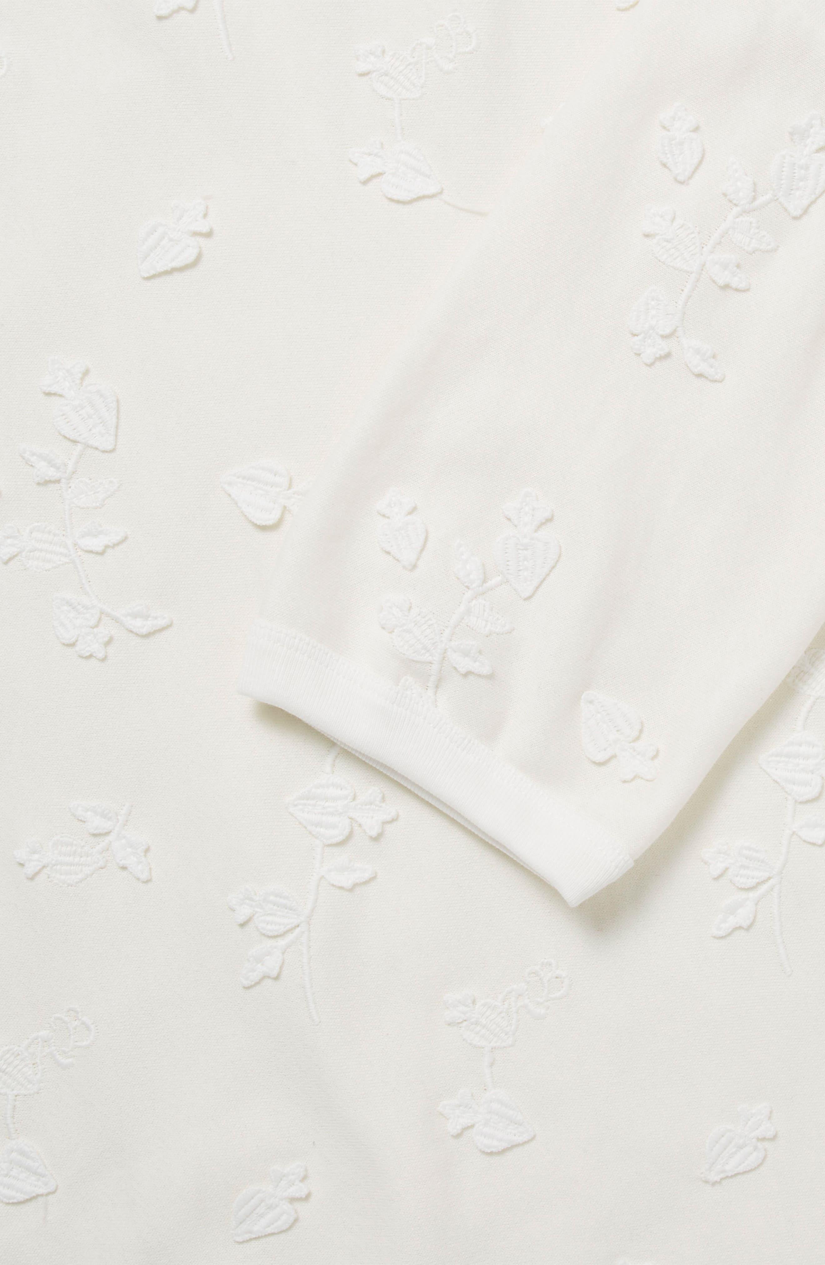Tonal Embroidered Sweatshirt,                             Alternate thumbnail 3, color,                             01 Denim White