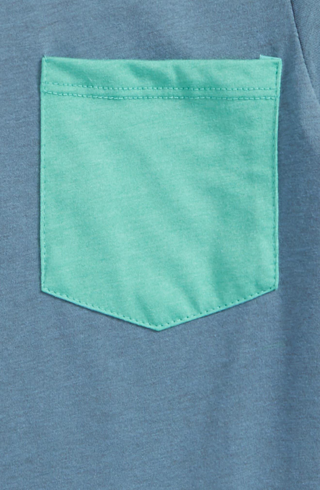 Heather Pocket T-Shirt,                             Alternate thumbnail 2, color,                             Wrecked Indigo