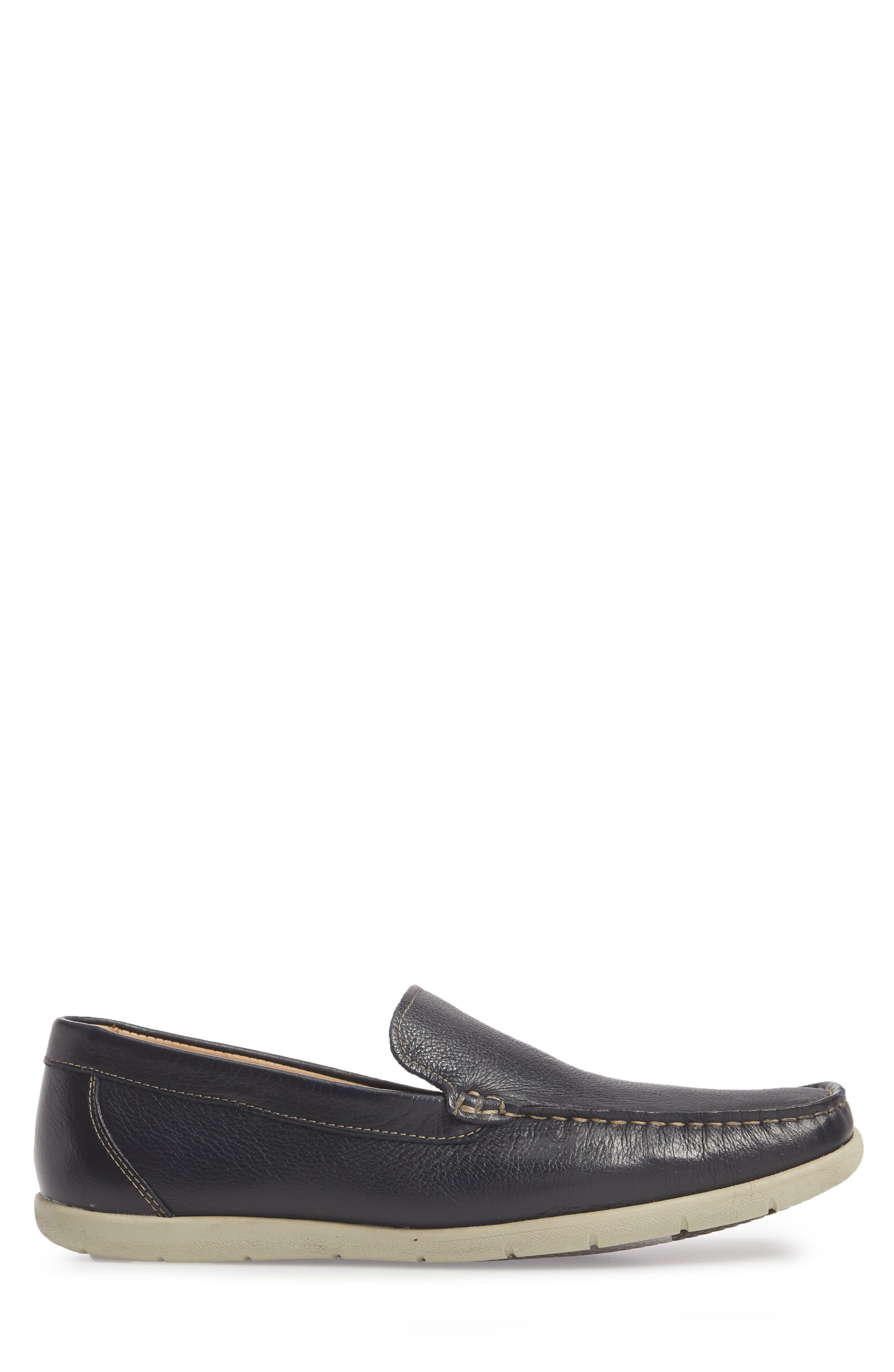 Calistoga Loafer,                             Alternate thumbnail 3, color,                             Navy Leather