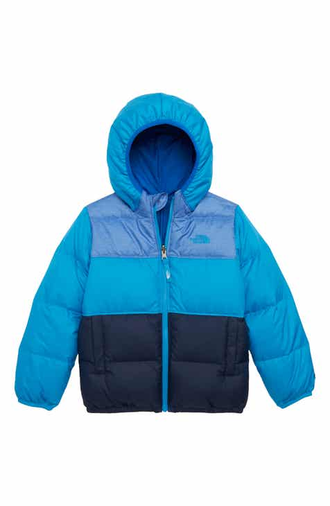8d11c346a83b The North Face  Moondoggy  Water Repellent Reversible Down Jacket (Toddler  Boys   Little Boys)