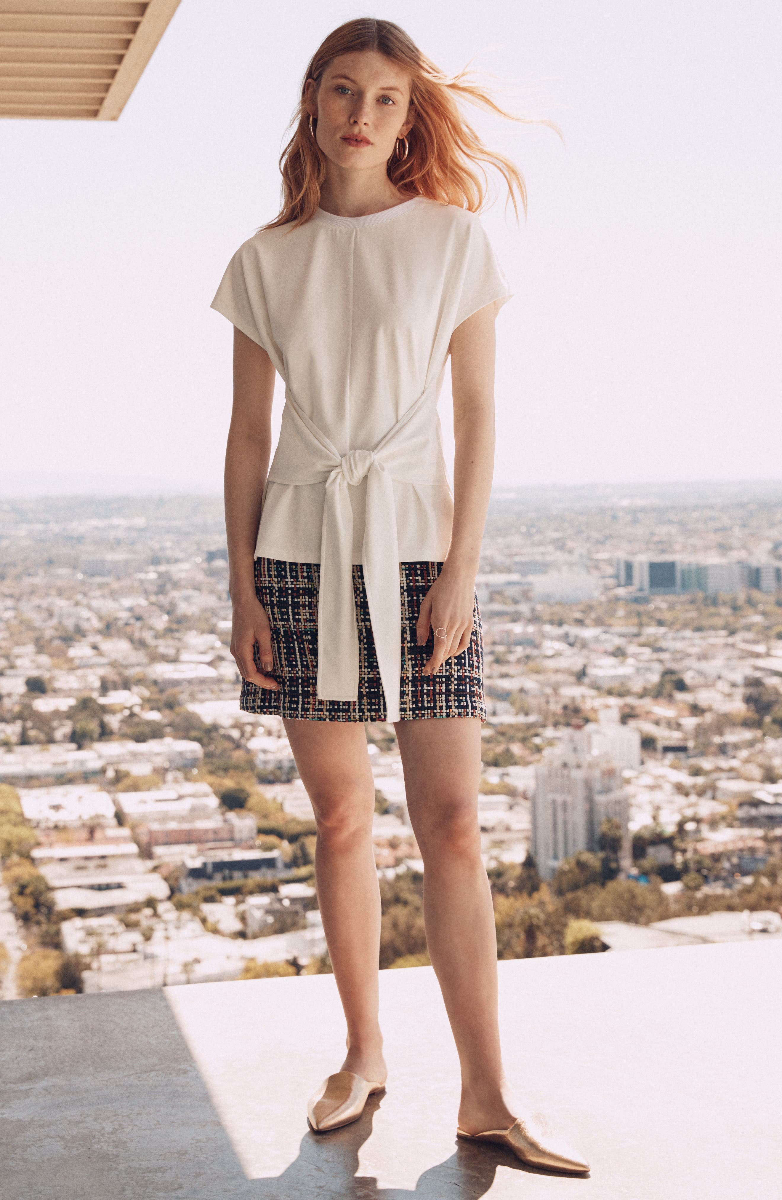 Tweed Mini Skirt,                             Alternate thumbnail 6, color,