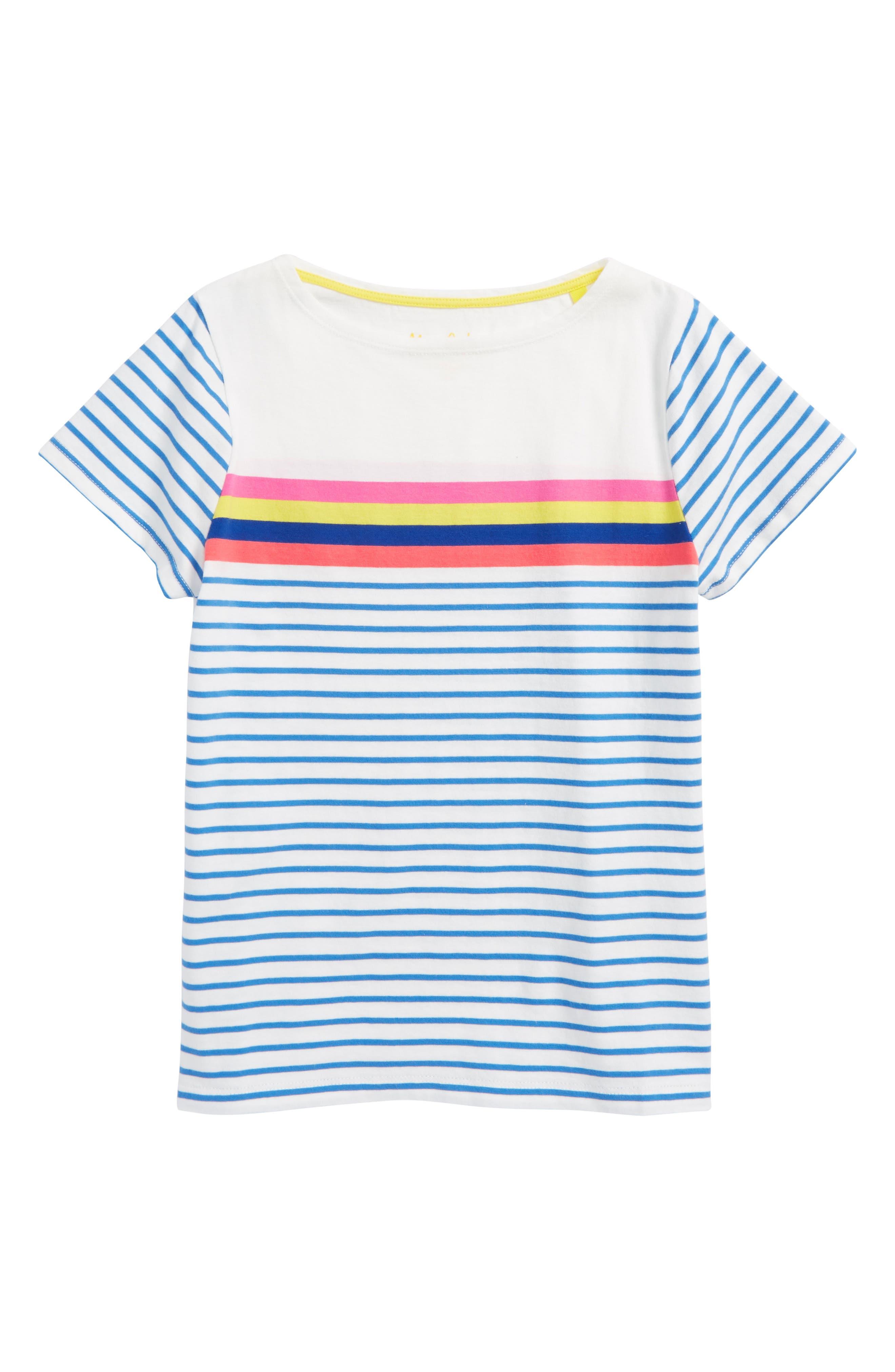 Mini Boden Breton Stripe Tee (Toddler Girls, Little Girls & Big Girls)