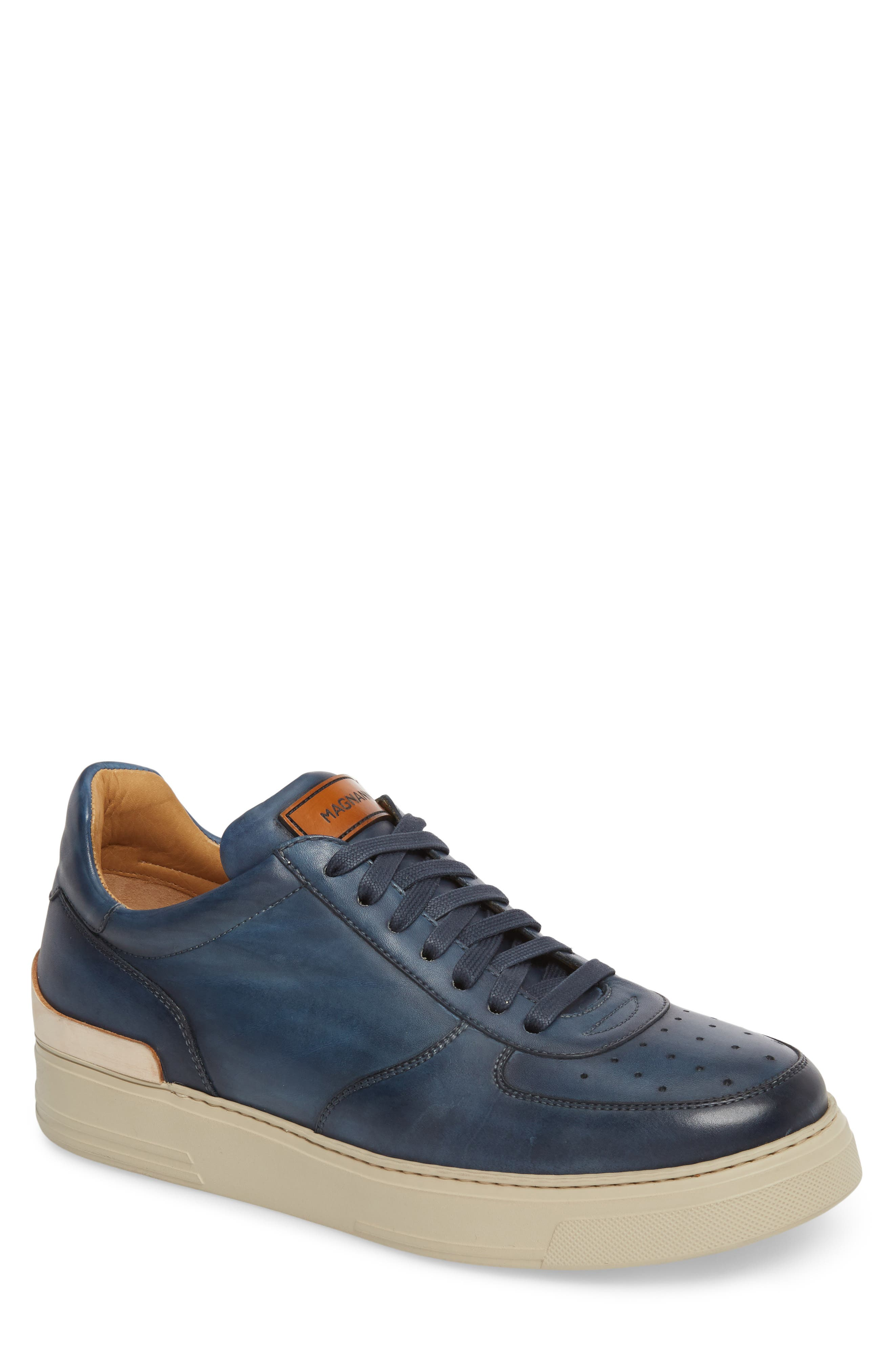 Vada Lo Lace Up Sneaker,                             Main thumbnail 1, color,                             Blue Leather