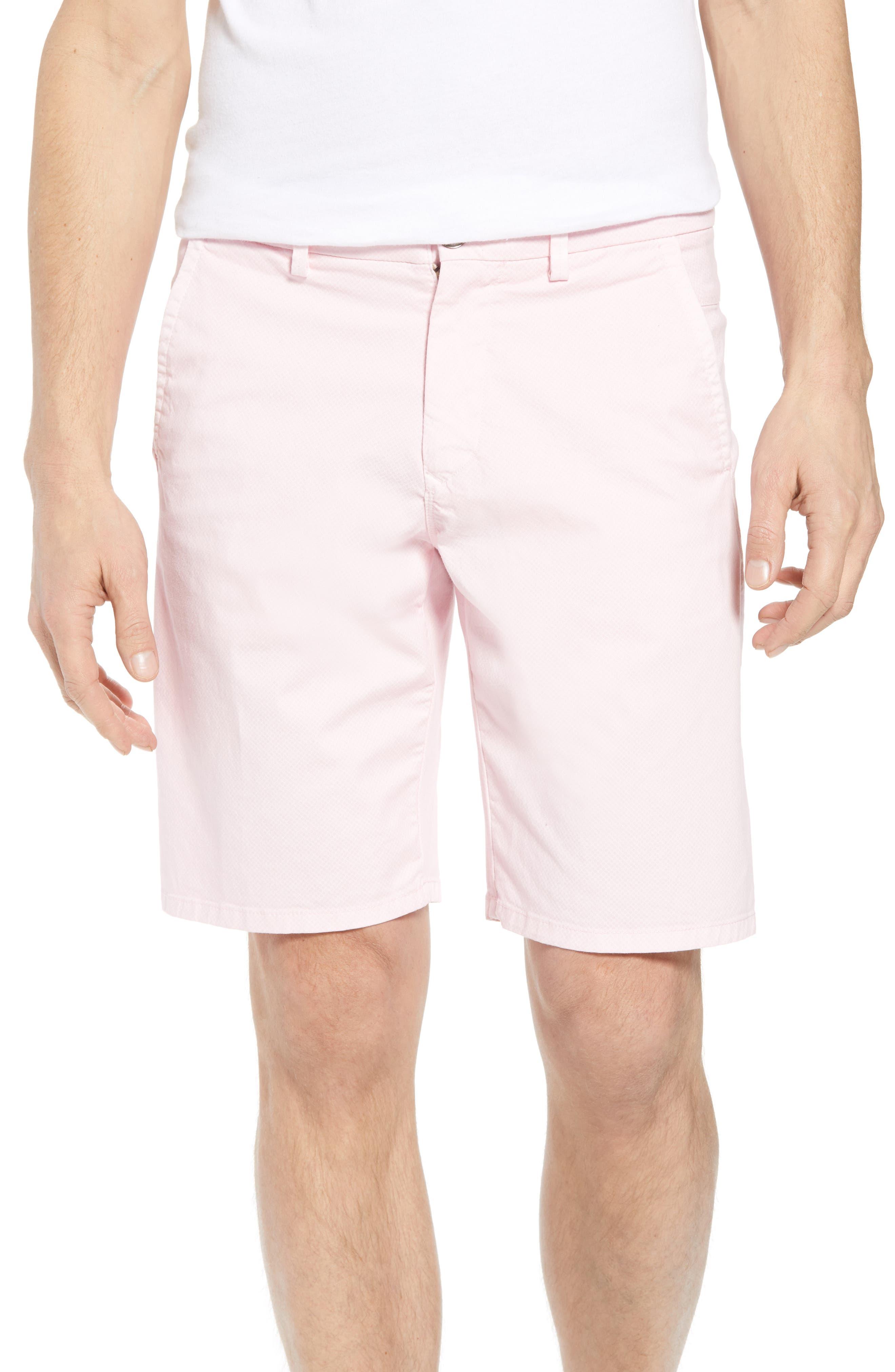 Monaco Diamond Dash Modern Fit Chino Shorts,                             Main thumbnail 1, color,                             Pink