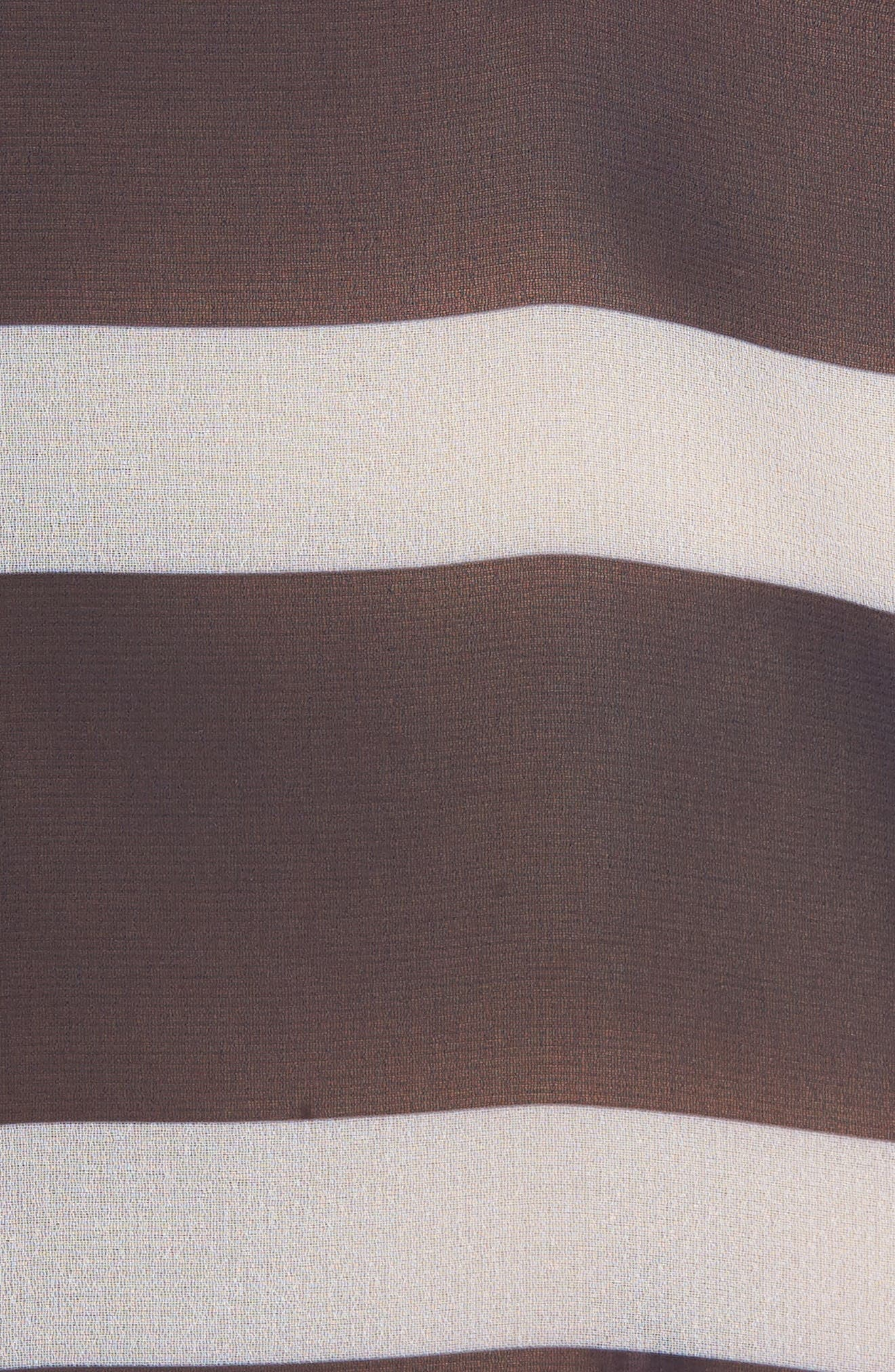 Stripe Cover-Up Tunic,                             Alternate thumbnail 5, color,                             Navy
