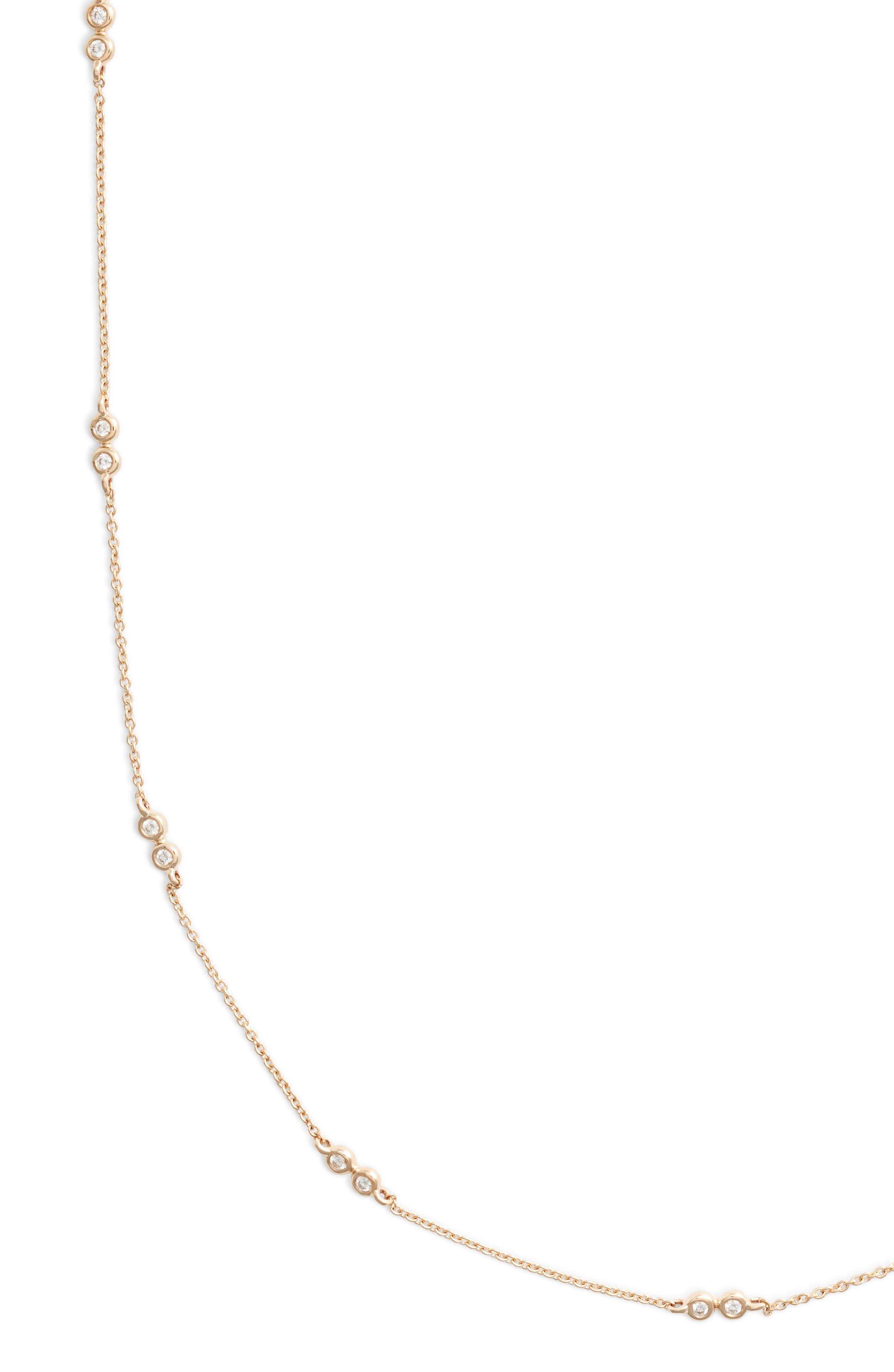 Lulu Jack Diamond Station Necklace,                             Main thumbnail 1, color,                             Yellow Gold