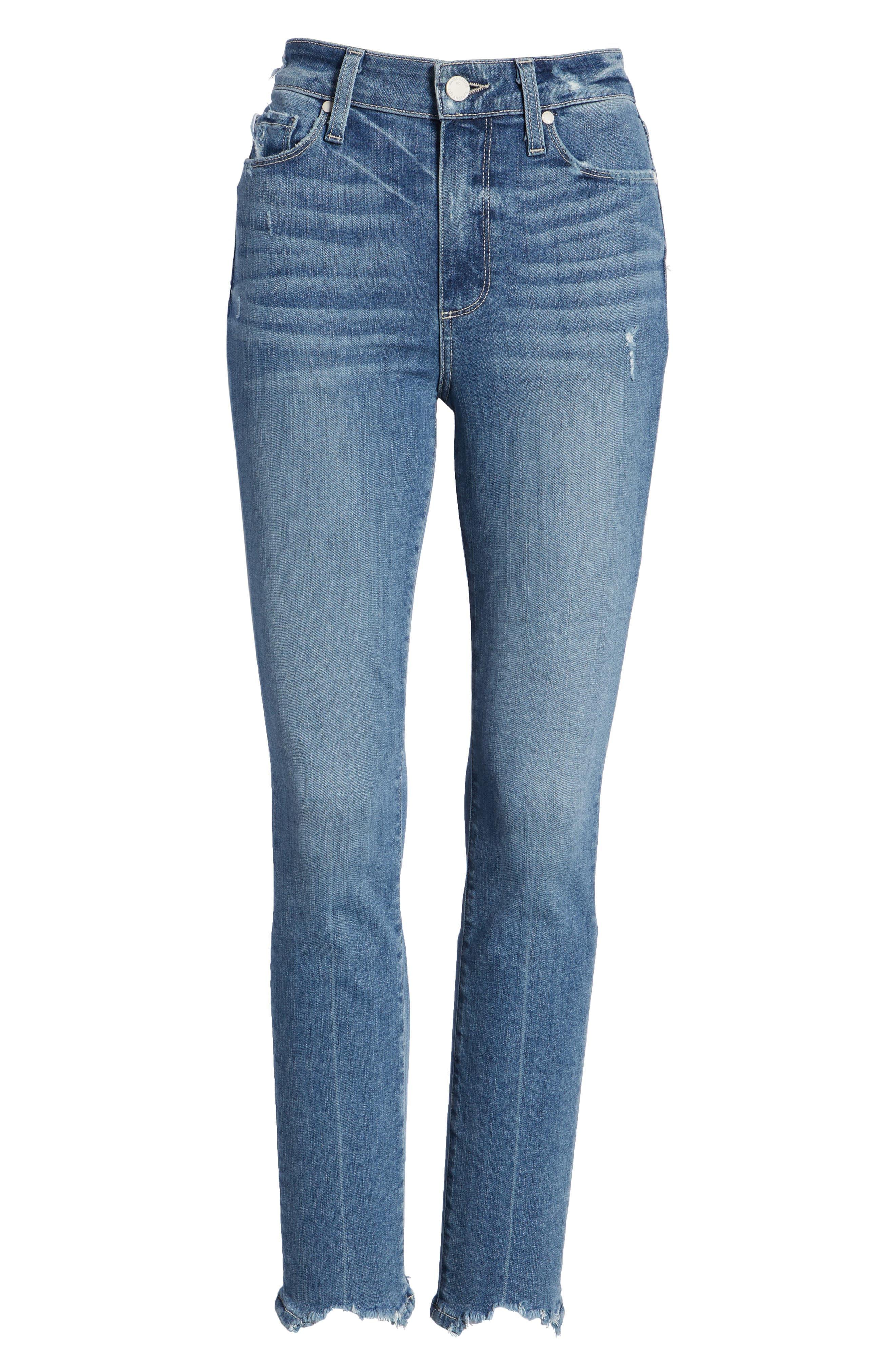 Transcend Vintage - Hoxton High Waist Ankle Skinny Jeans,                             Alternate thumbnail 9, color,                             Zahara