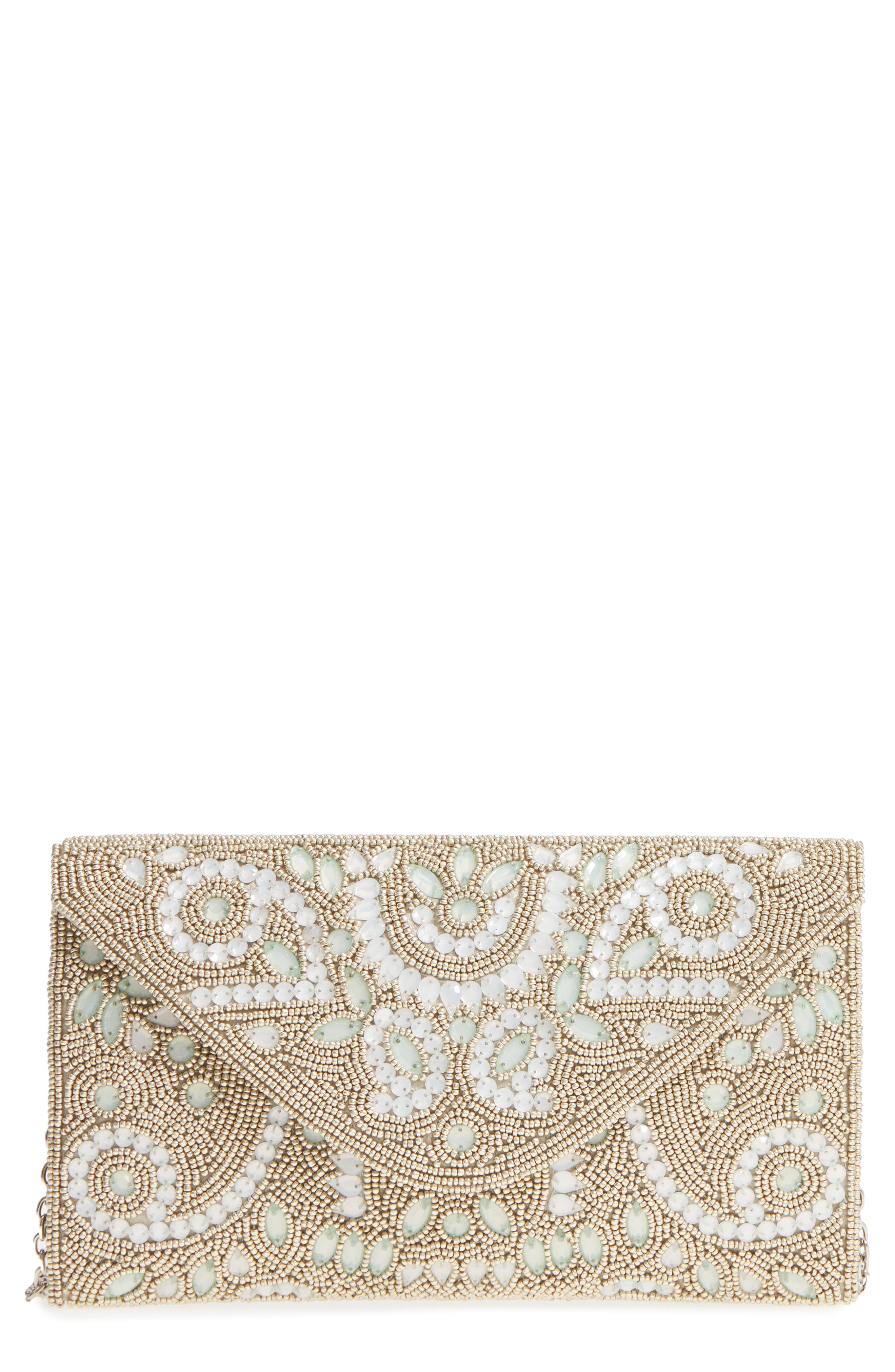 Nordstrom Embellished Envelope Clutch