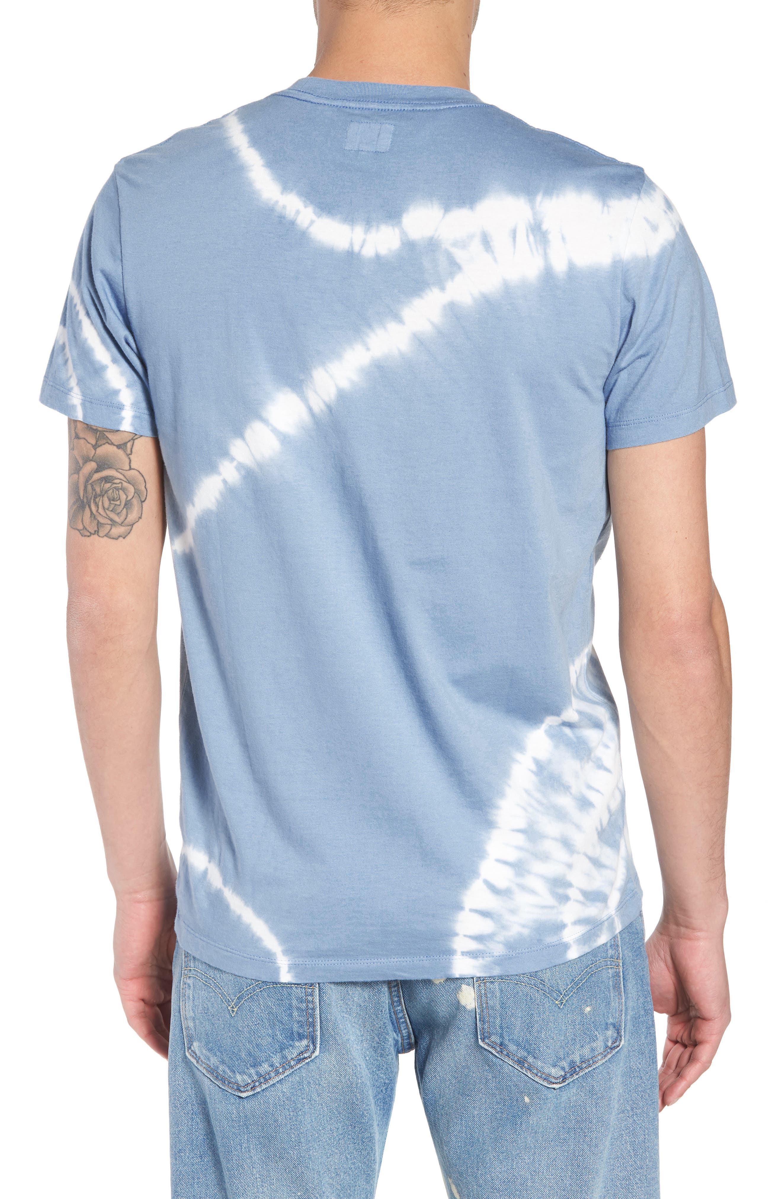 Set-In Sunset Pocket T-Shirt,                             Alternate thumbnail 2, color,                             Tie Dye Allure
