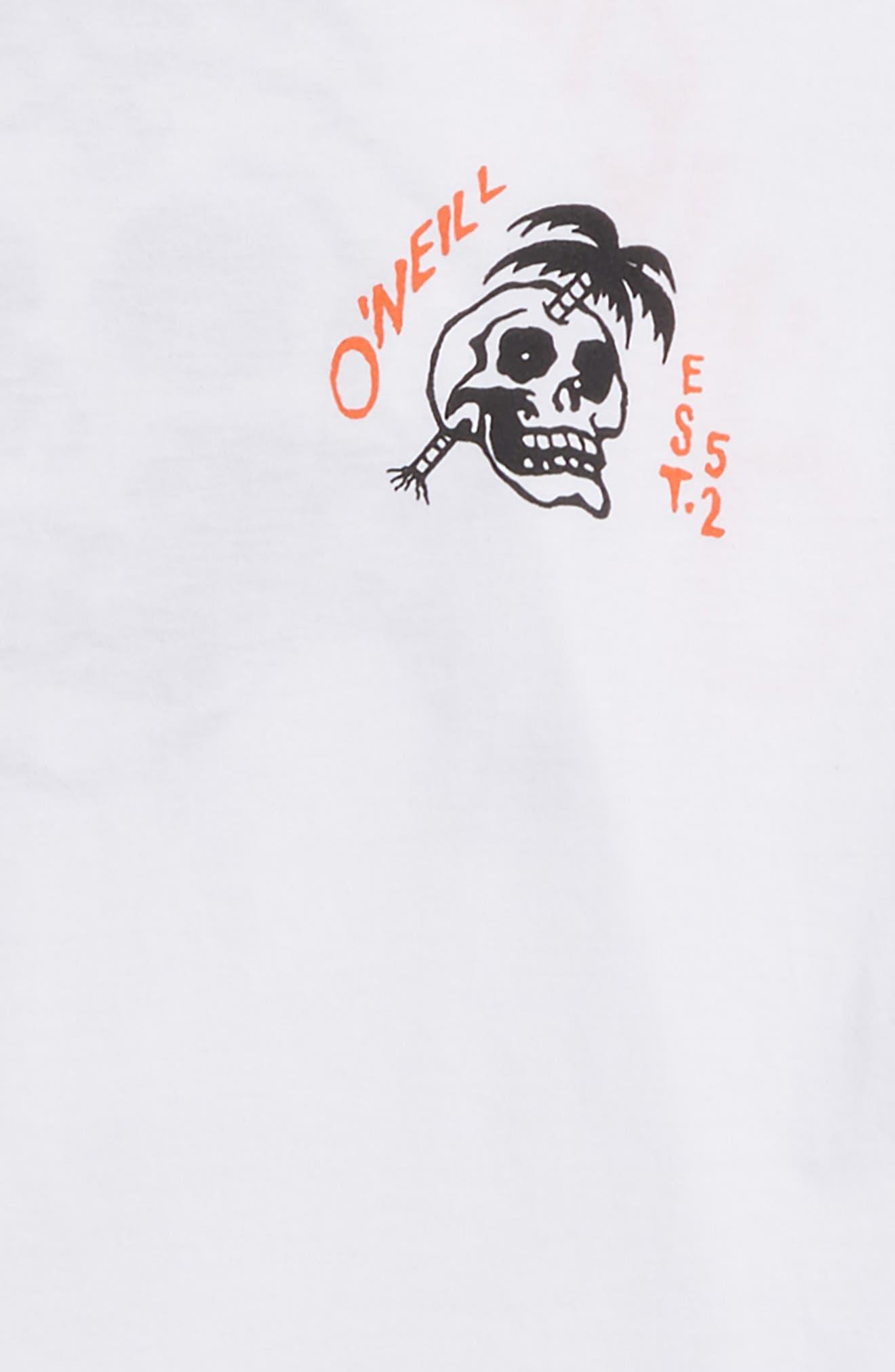Palm Balm Graphic T-Shirt,                             Alternate thumbnail 3, color,                             White