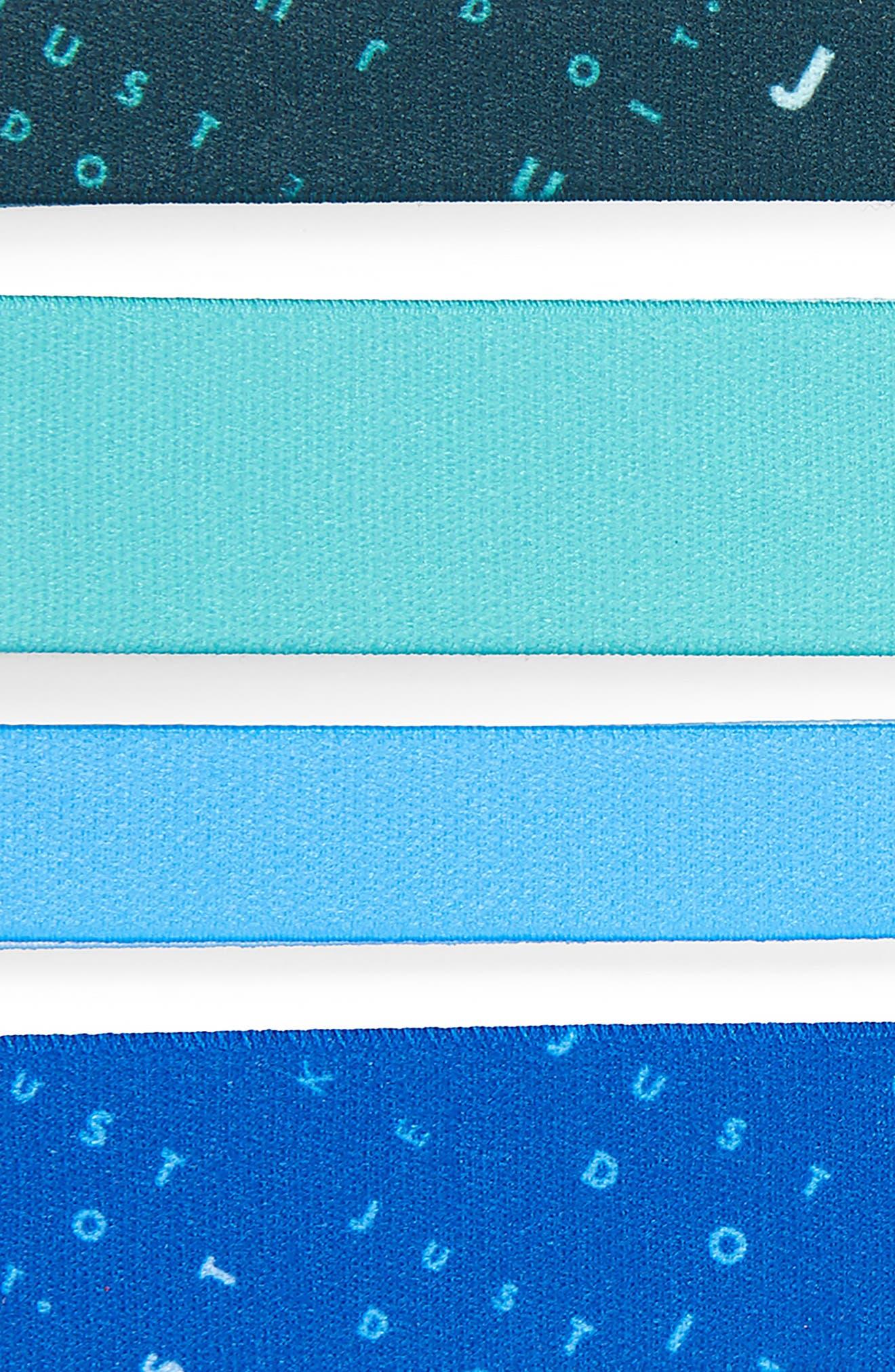 4-Pack Headbands,                             Alternate thumbnail 2, color,                             Blue/ Royal
