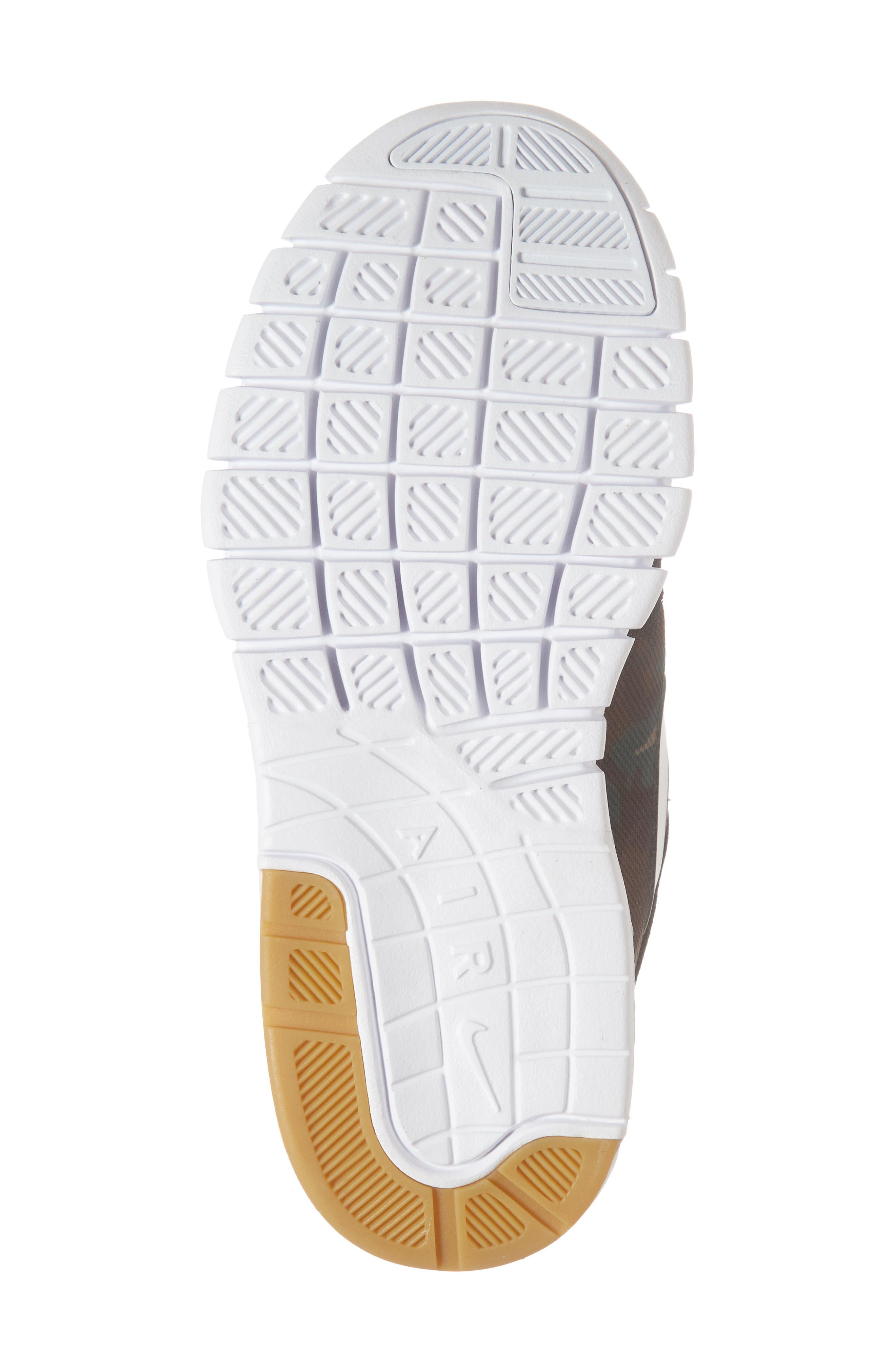 Stefan Janoski Max SB Skate Sneaker,                             Alternate thumbnail 6, color,                             Black/ White/ Olive/ Brown