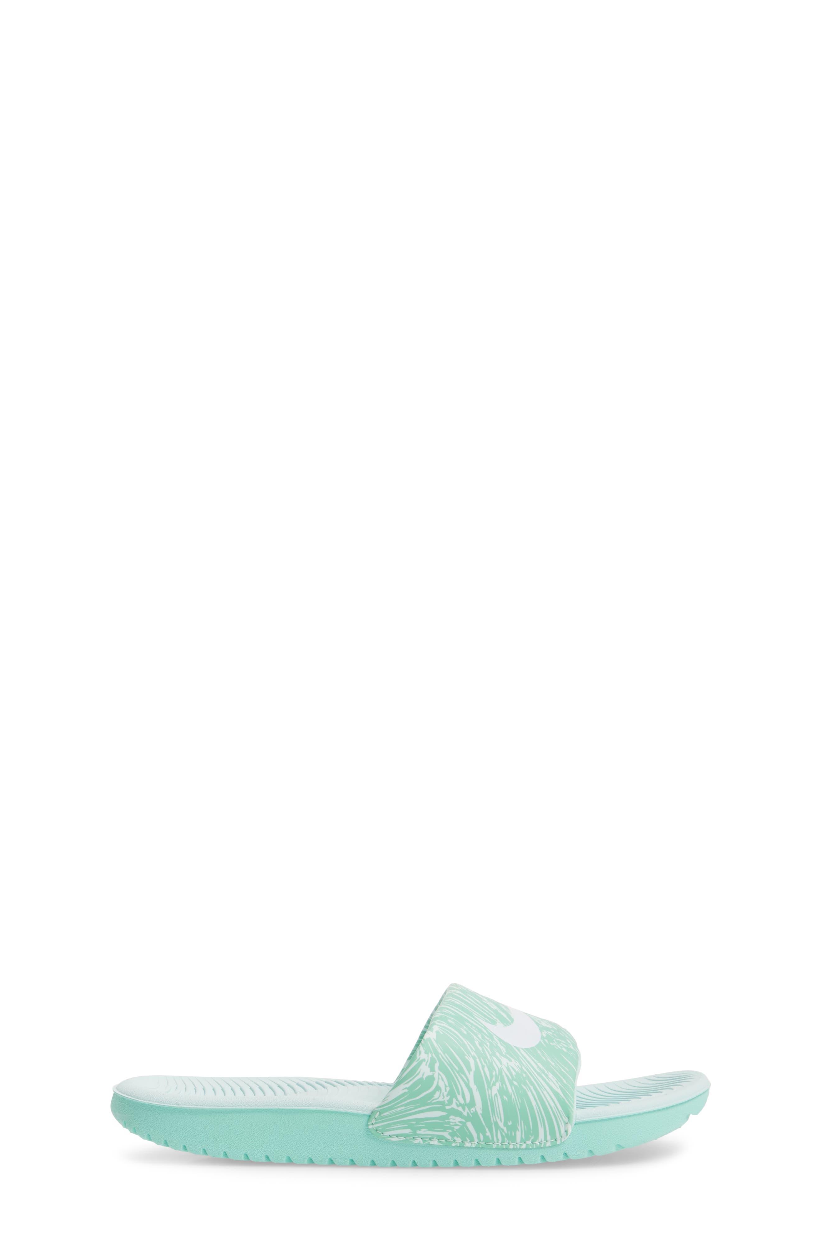 'Kawa' Print Slide Sandal,                             Alternate thumbnail 3, color,                             Emerald Rise/ White/ Igloo