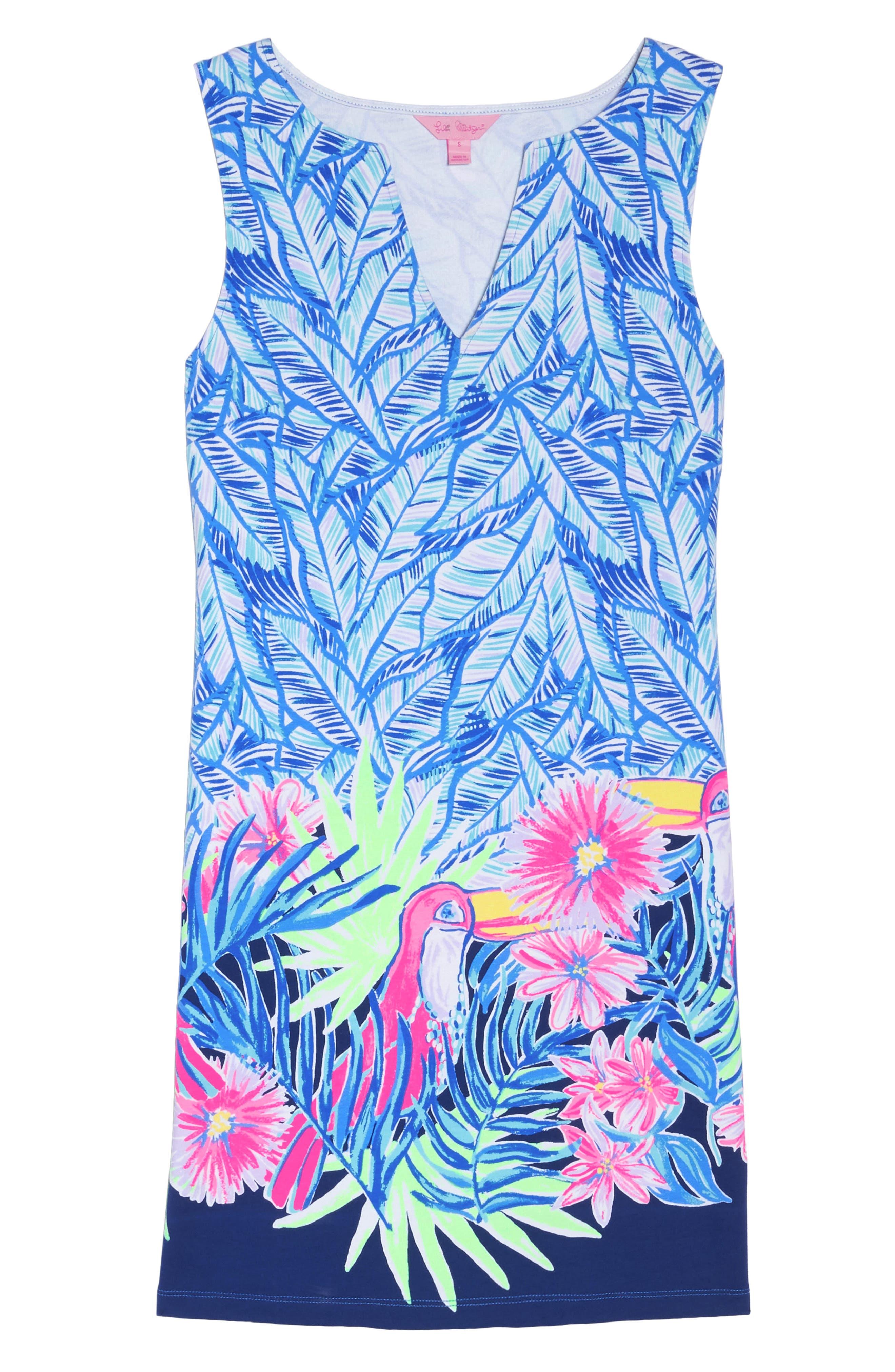 Harper Sleeveless Dress,                             Alternate thumbnail 6, color,                             Bennet Blue Lets Mango