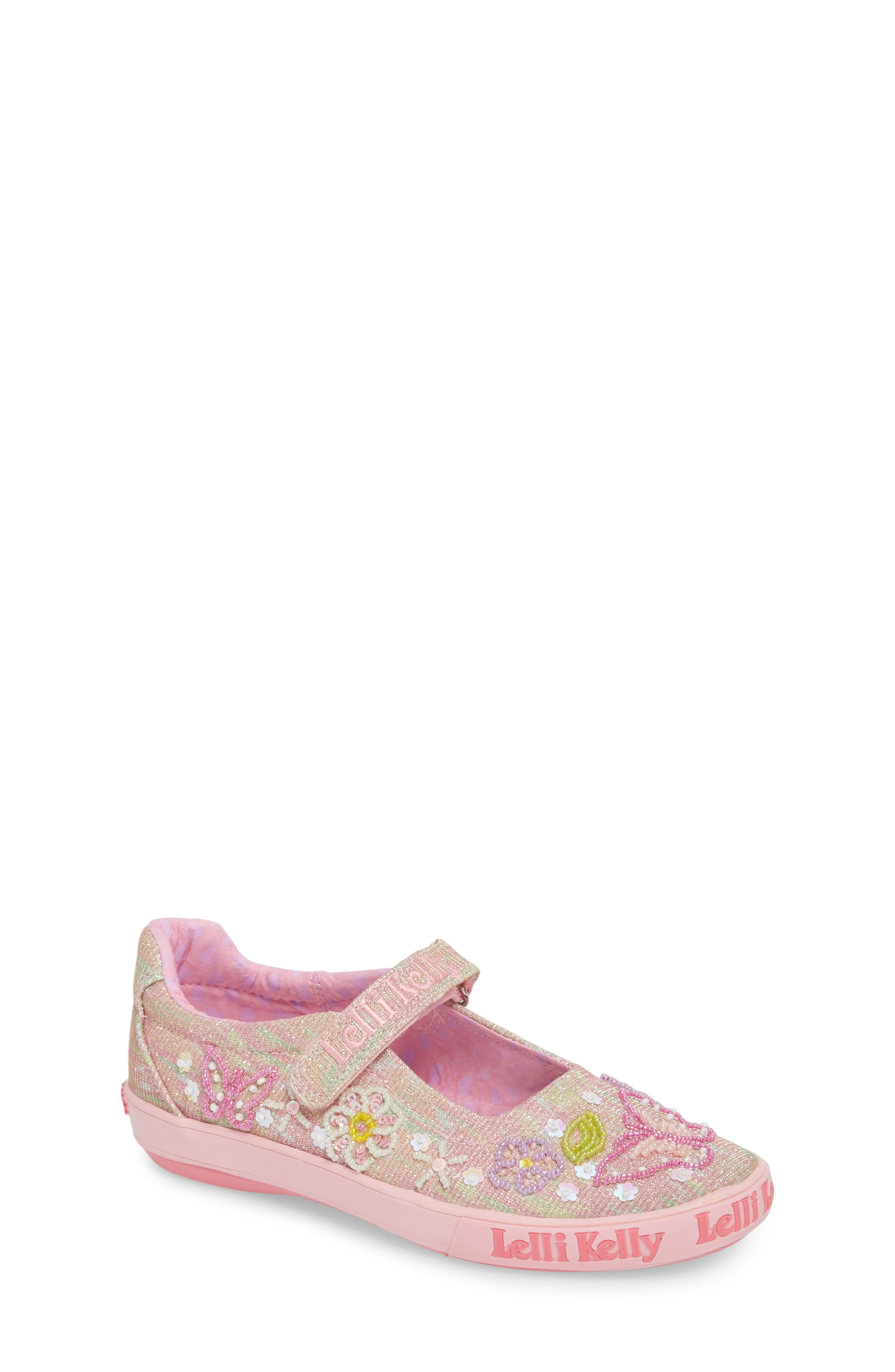 Beaded Mary Jane Sneaker,                             Main thumbnail 1, color,                             Pink