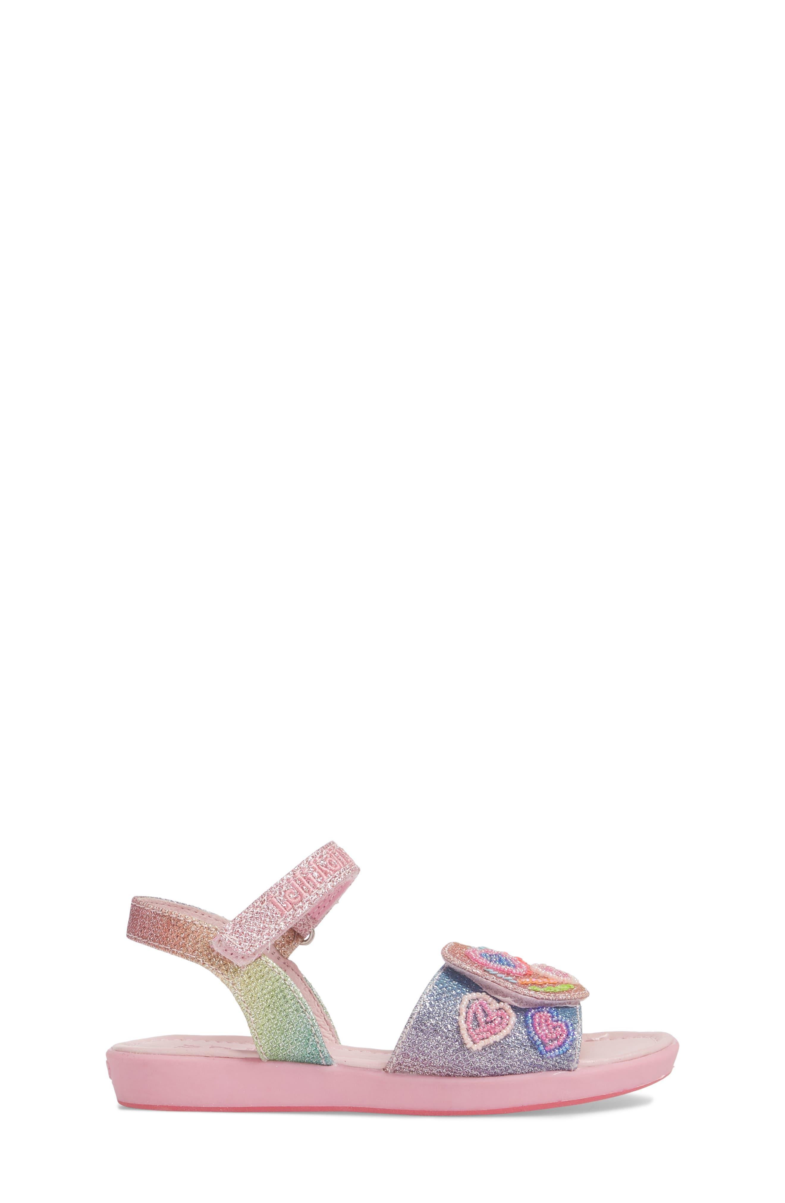 Beaded Sandal,                             Alternate thumbnail 3, color,                             Blue