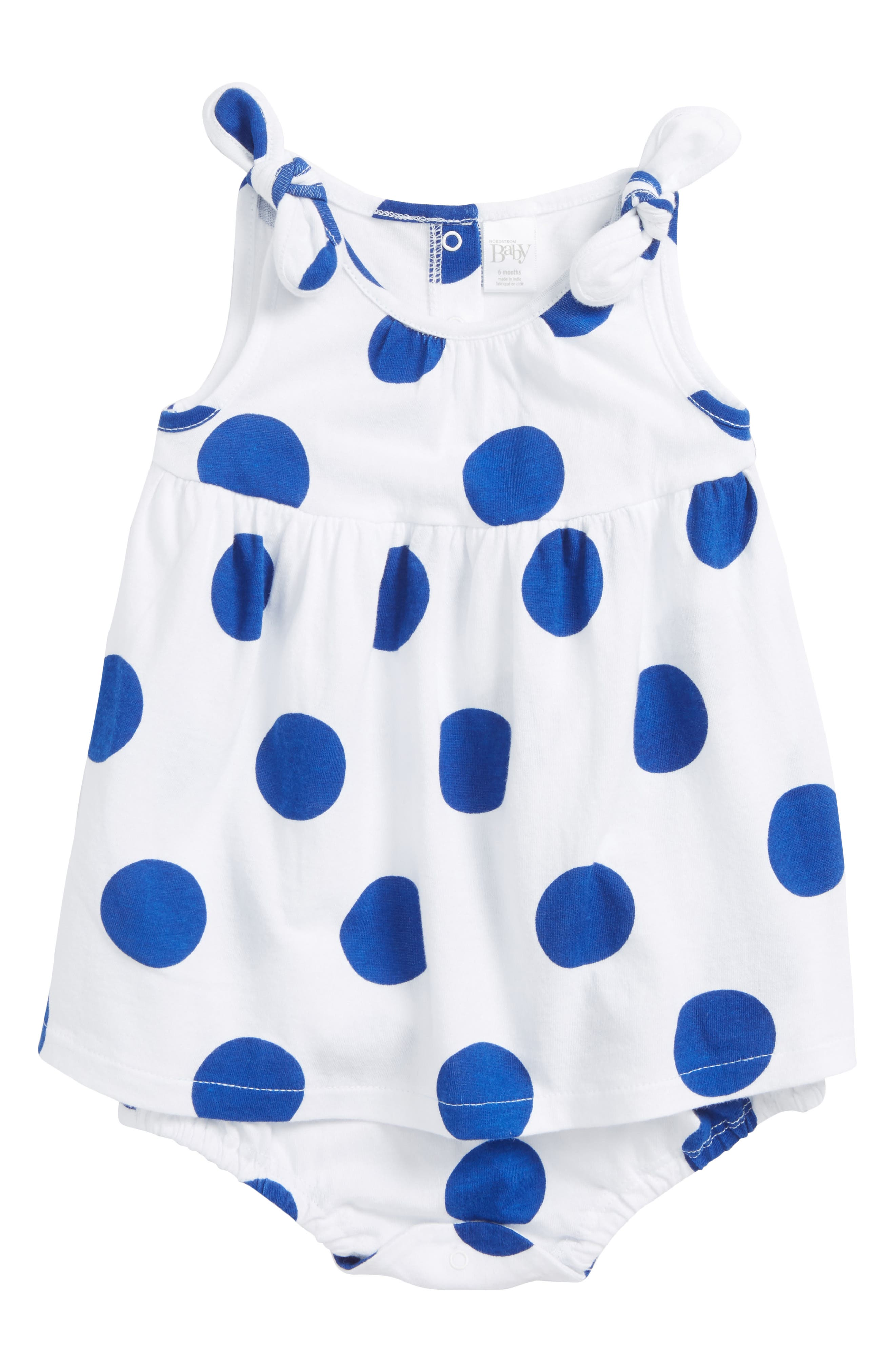 Nordstrom Baby Bubble Print Dress (Baby Girls)