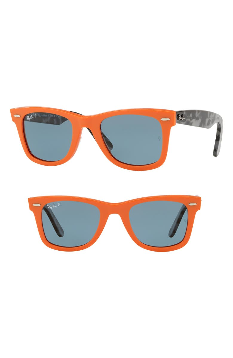 c82ca935f0a Ray Ban Standard Classic Wayfarer 50Mm Polarized Sunglasses - Orange ...