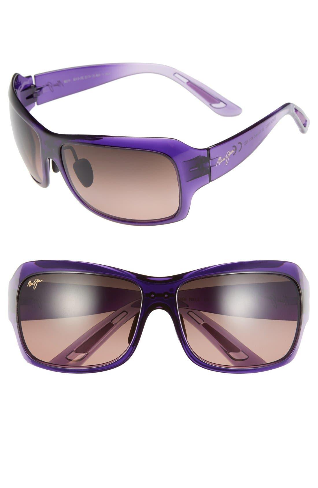 Seven Pools 62mm PolarizedPlus2<sup>®</sup> Sunglasses,                         Main,                         color, Purple Fade/ Maui Rose