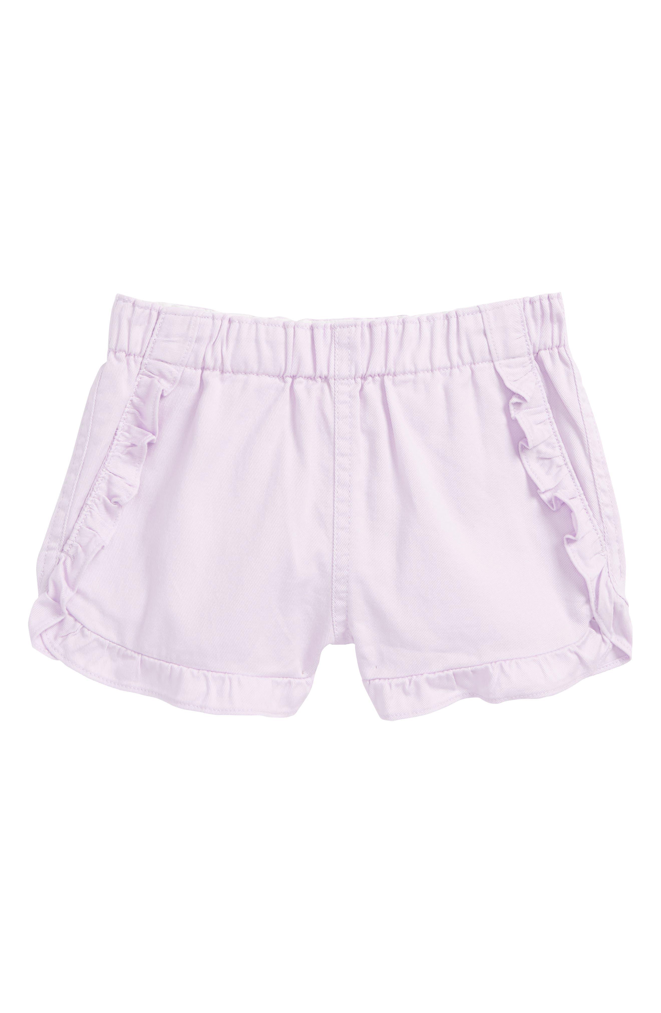 crewcuts by J.Crew Elsa Ruffle Twill Shorts (Toddler Girls, Little Girls & Big Girls)