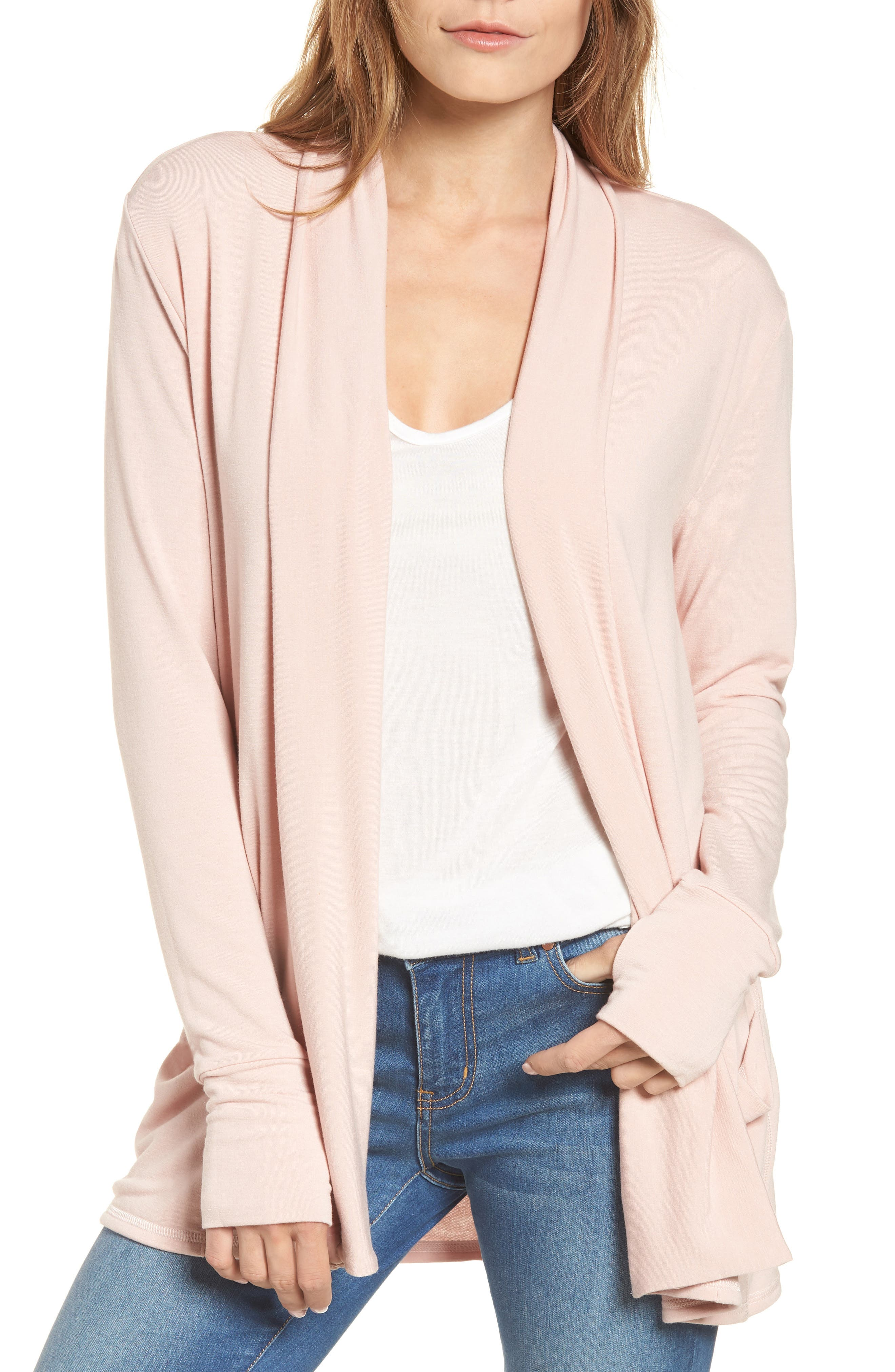 Caslon® Off-Duty French Terry Cardigan
